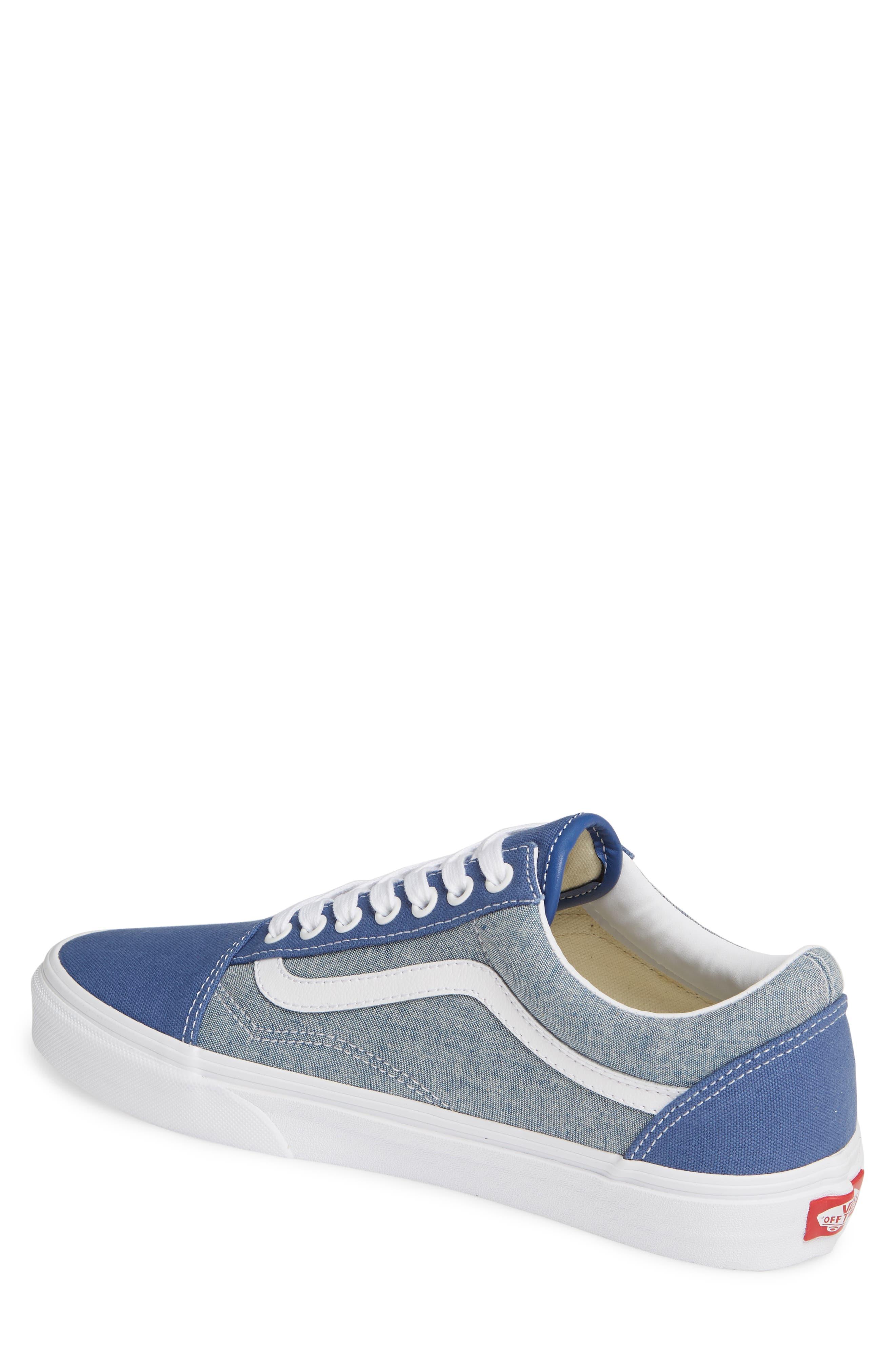 VANS, Old Skool Sneaker, Alternate thumbnail 2, color, CANVAS NAVY/ WHITE CHAMBRAY