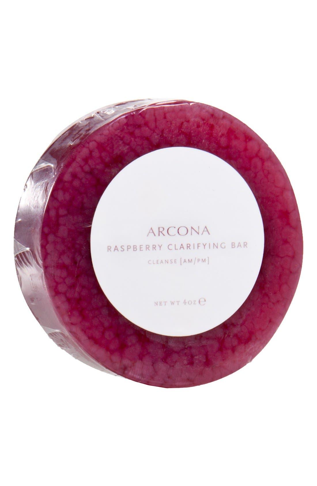 ARCONA Raspberry Clarifying Bar Refill, Main, color, NO COLOR
