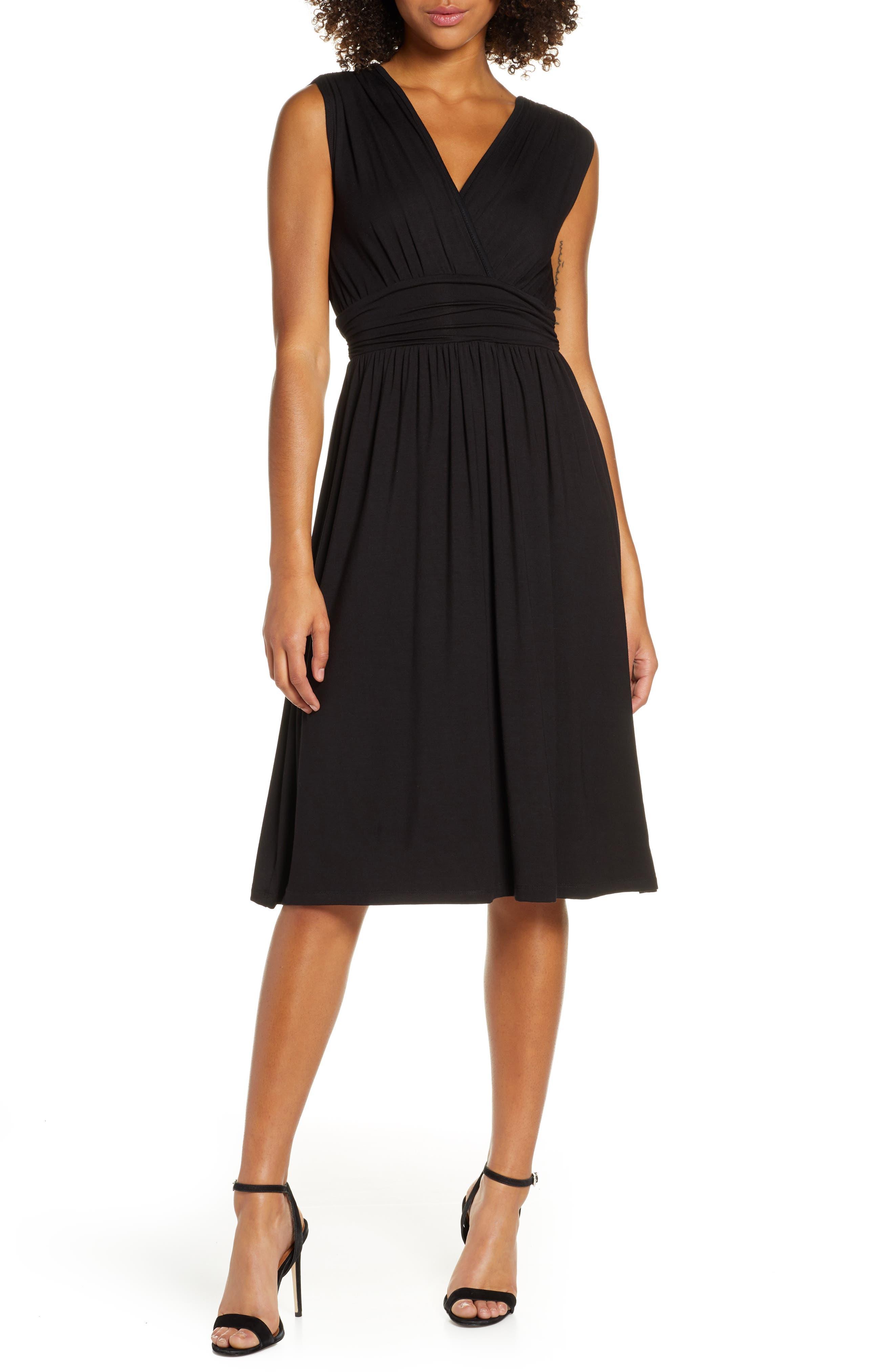 Fraiche By J Jersey Midi Dress, Black