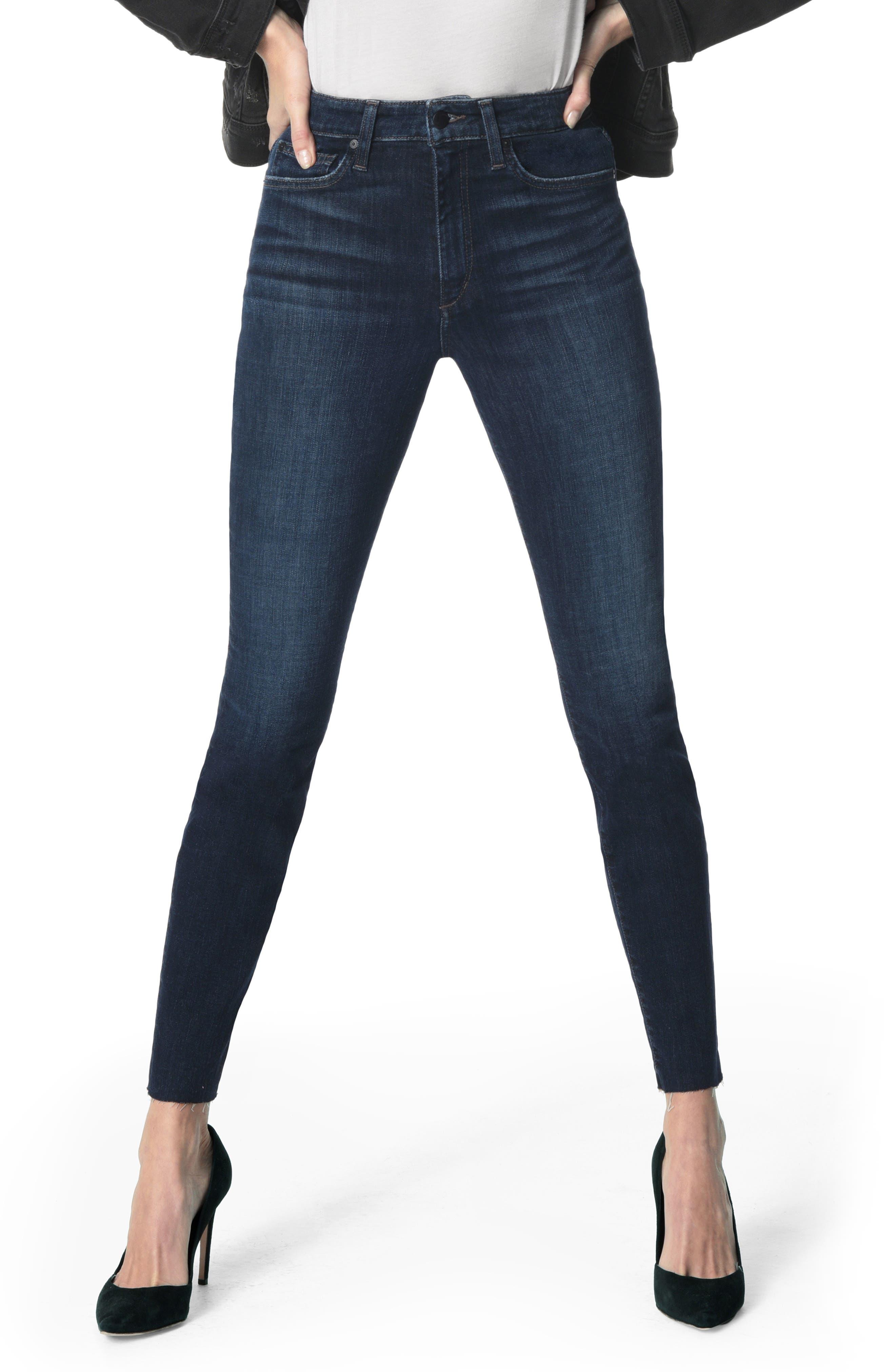 JOE'S Charlie High Waist Raw Hem Ankle Skinny Jeans, Main, color, DORI