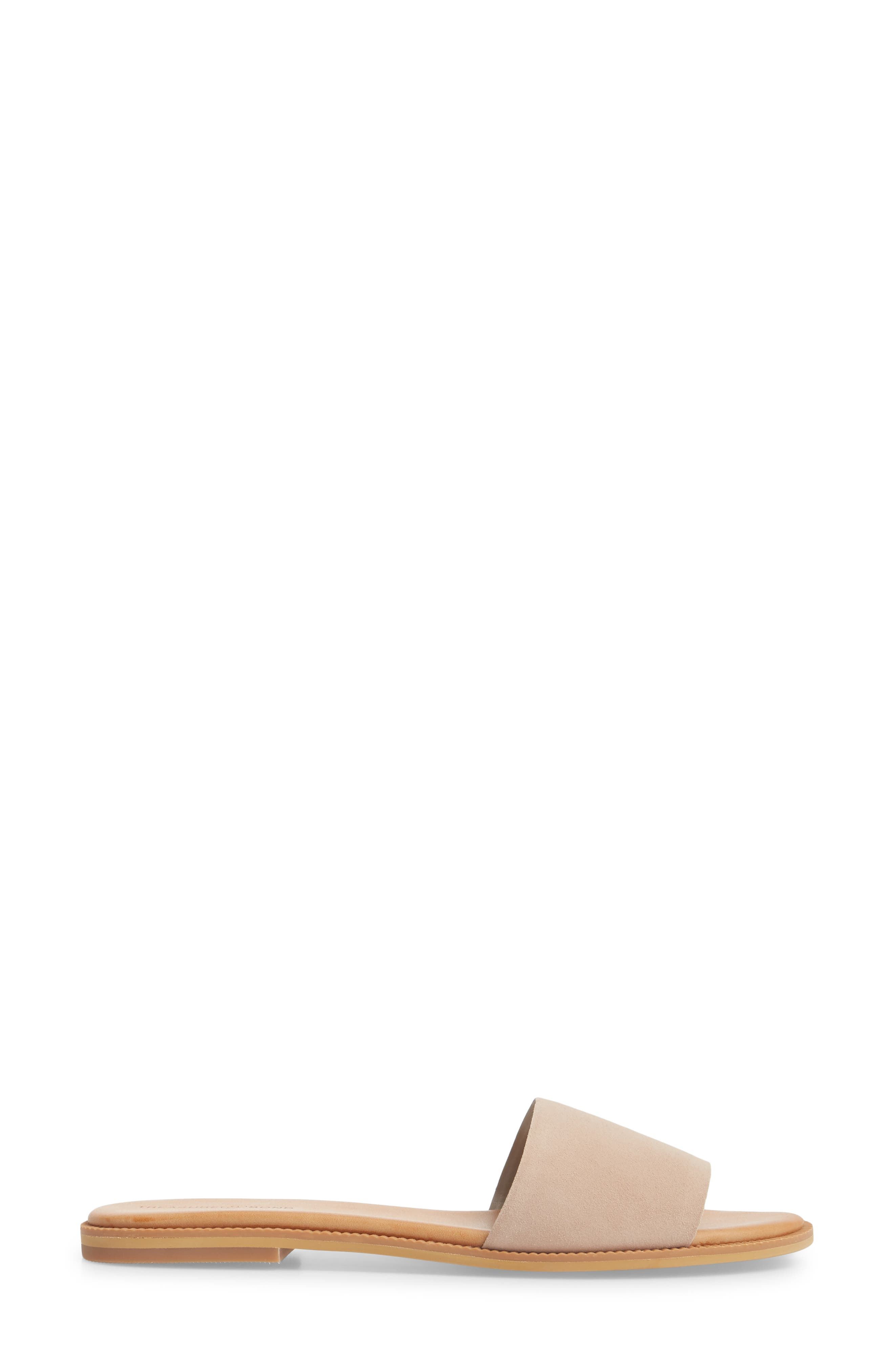 TREASURE & BOND, Mere Flat Slide Sandal, Alternate thumbnail 3, color, NEW BLUSH SUEDE