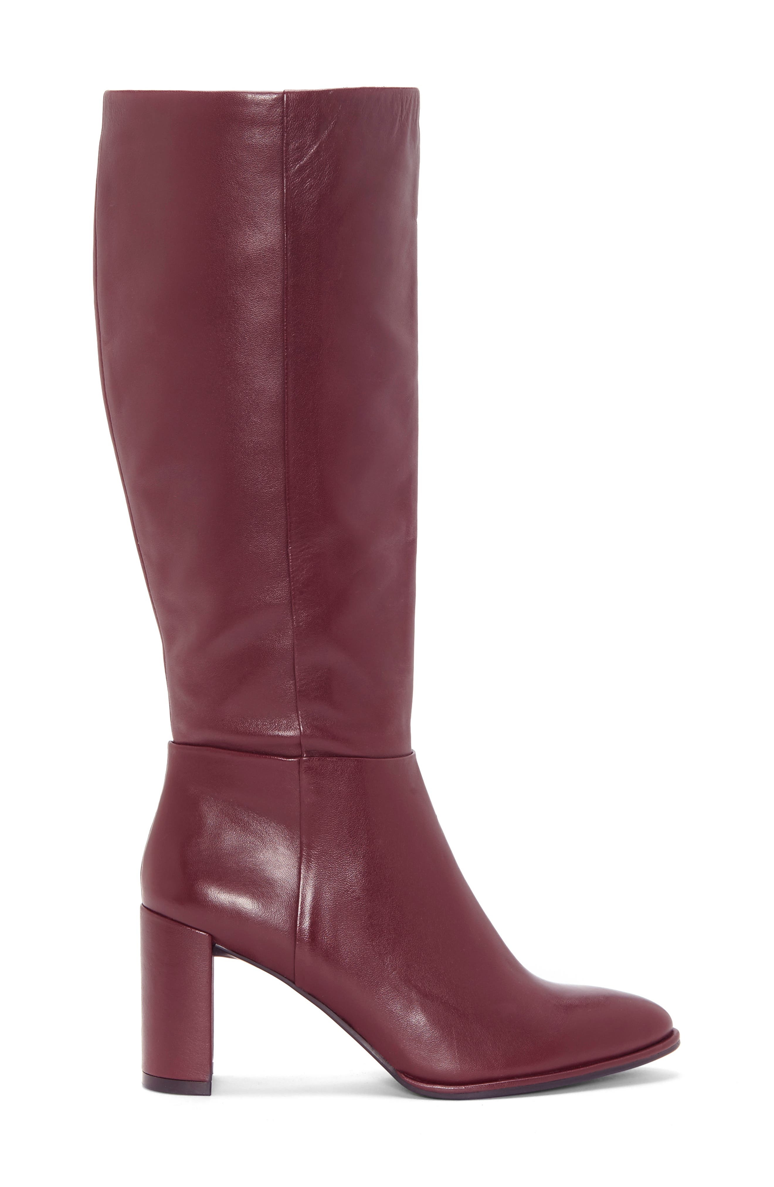 ENZO ANGIOLINI, Wenda Knee High Boot, Alternate thumbnail 3, color, MULLED WINE LEATHER