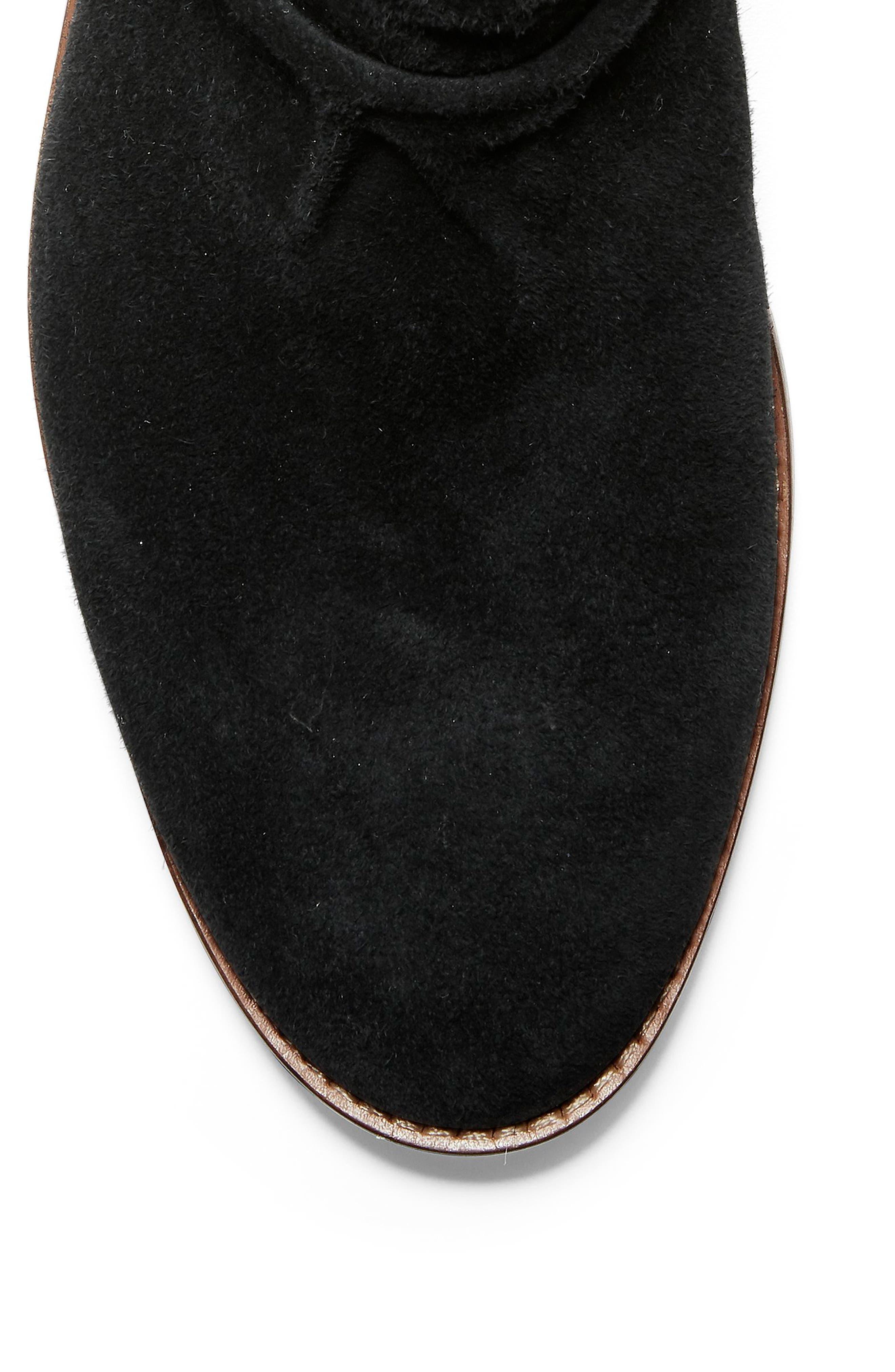 COLE HAAN, Harrington Grand Slouch Bootie, Alternate thumbnail 7, color, BLACK SUEDE