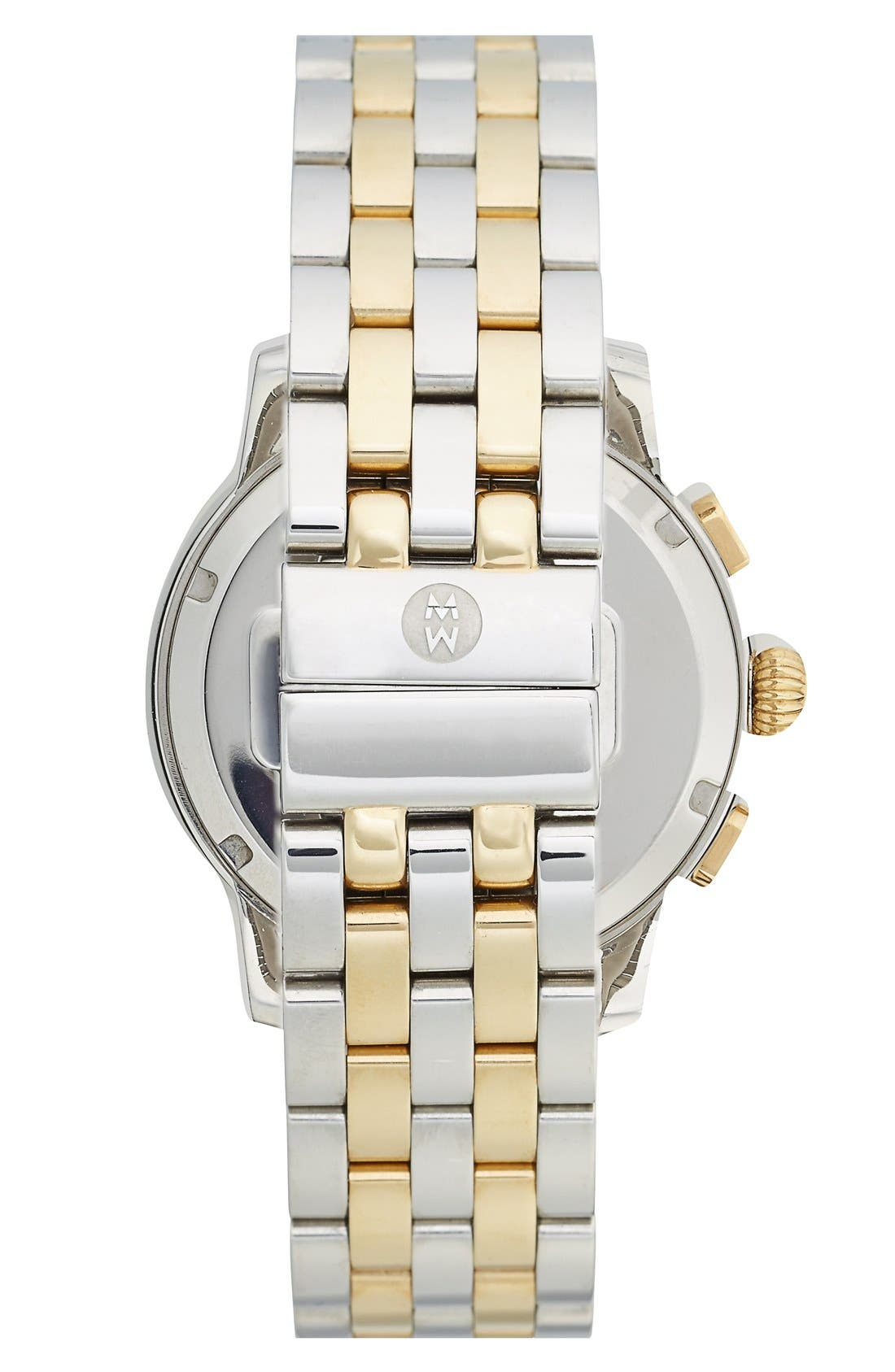 MOVADO, 'Bold' Two-Tone Bracelet Watch, 32mm, Alternate thumbnail 6, color, SILVER/ GOLD