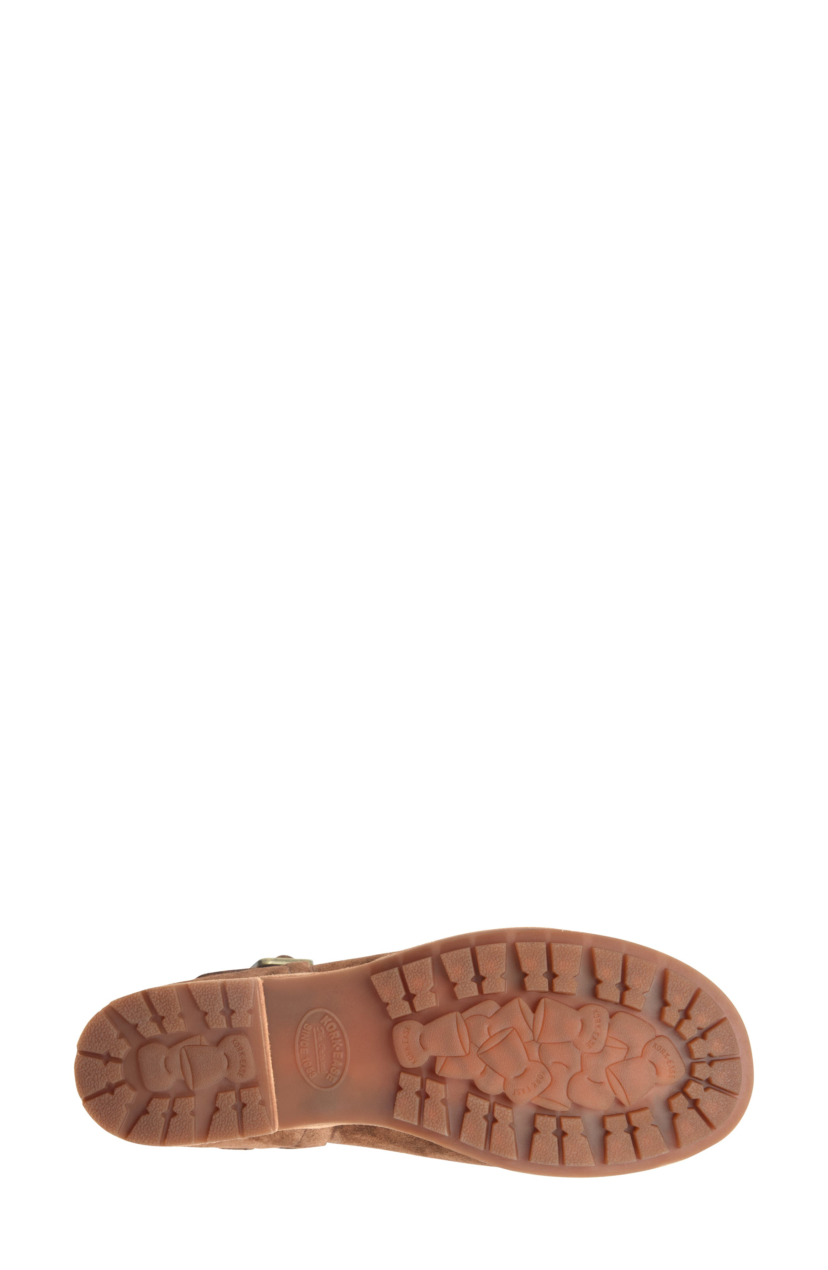 KORK-EASE<SUP>®</SUP>, Bellota Mary Jane Flat, Alternate thumbnail 4, color, BROWN SUEDE