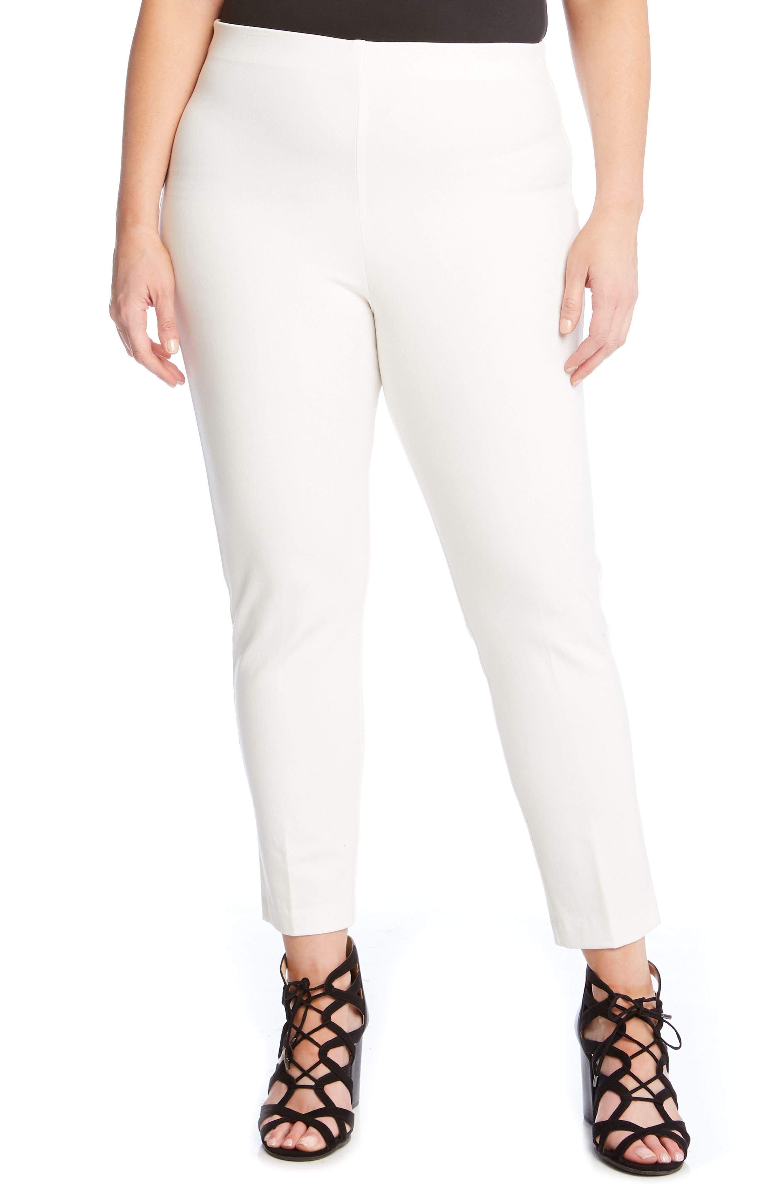 KAREN KANE Piper Skinny Ankle Pants, Main, color, OFF WHITE