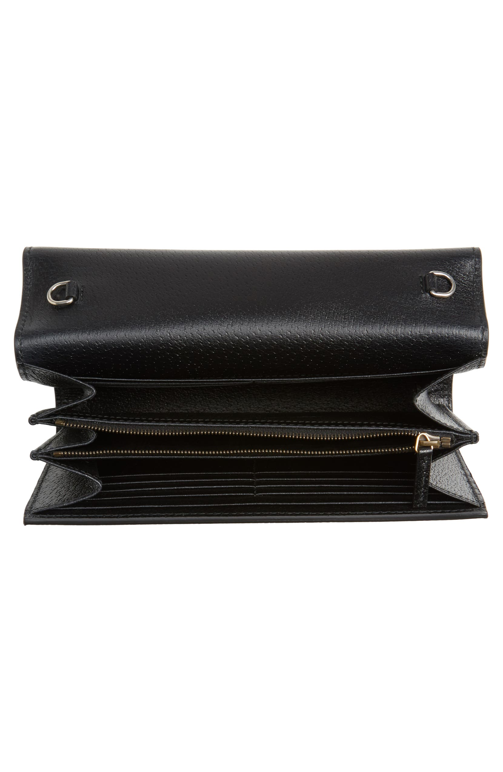 9f5974917fa Gucci Dionysus Web Stripe Leather Wallet on a Chain