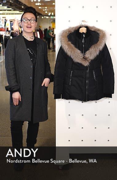 Hooded Down Parka with Inset Bib & Genuine Fox Fur Trim, sales video thumbnail