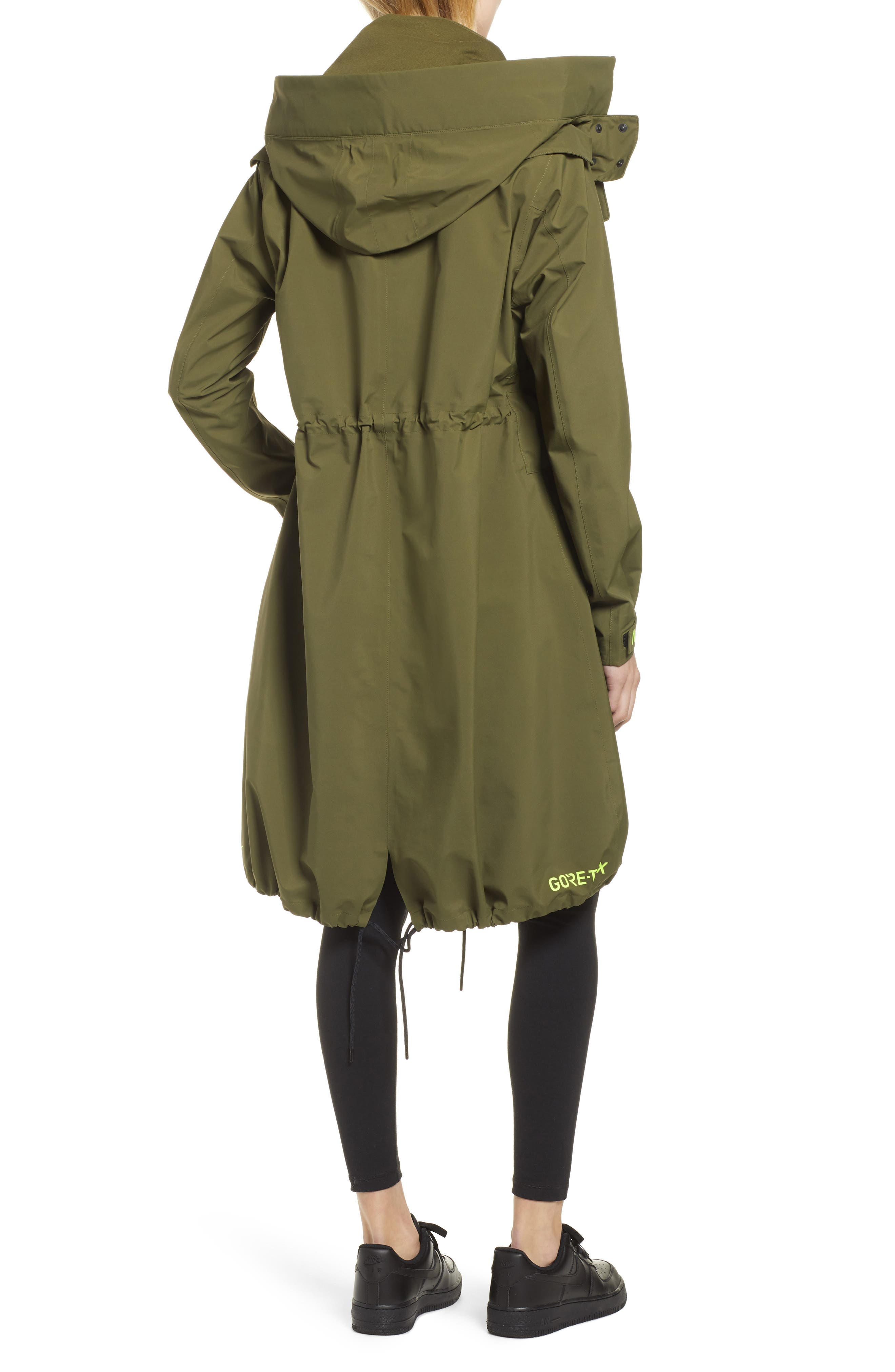 NIKE, NikeLab ACG GORE-TEX<sup>®</sup> Women's Jacket, Alternate thumbnail 4, color, OLIVE CANVAS