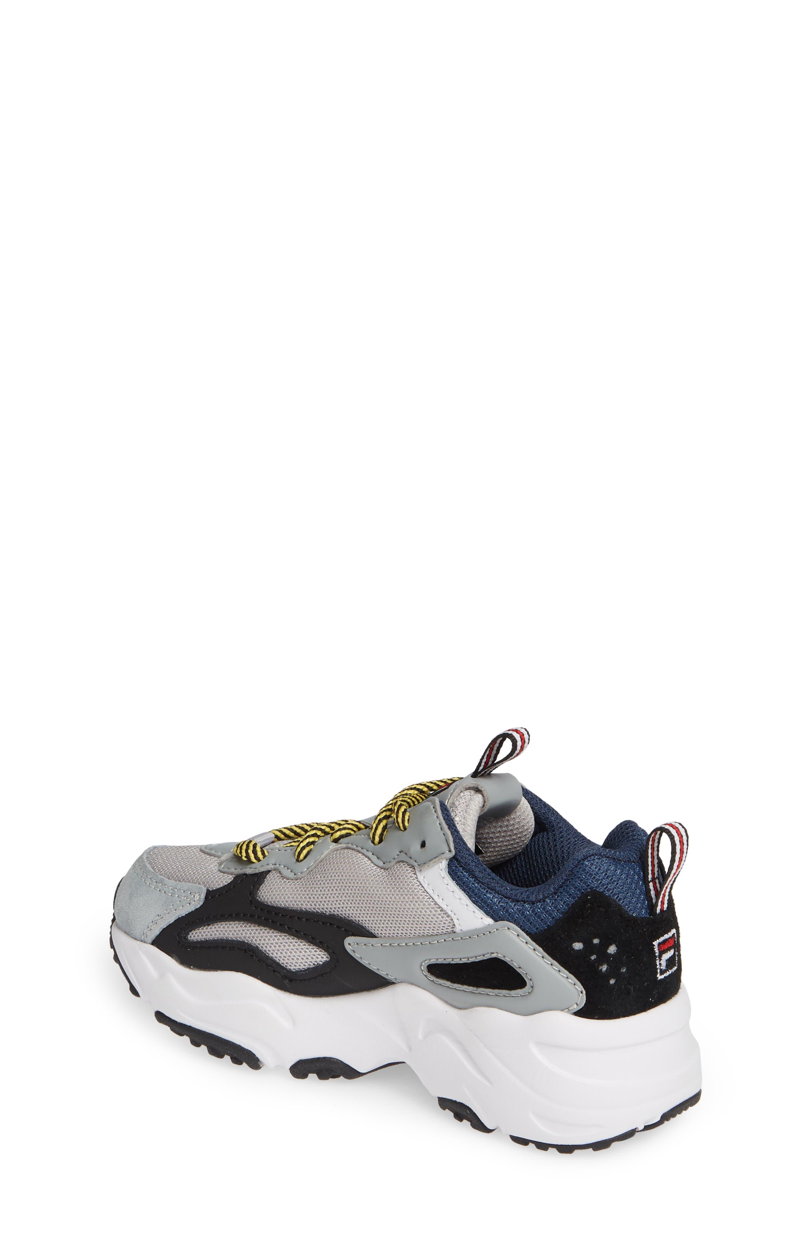 FILA, Ray Tracer Sneaker, Alternate thumbnail 2, color, VAPOR BLUE/ HIGHRISE/ BLACK