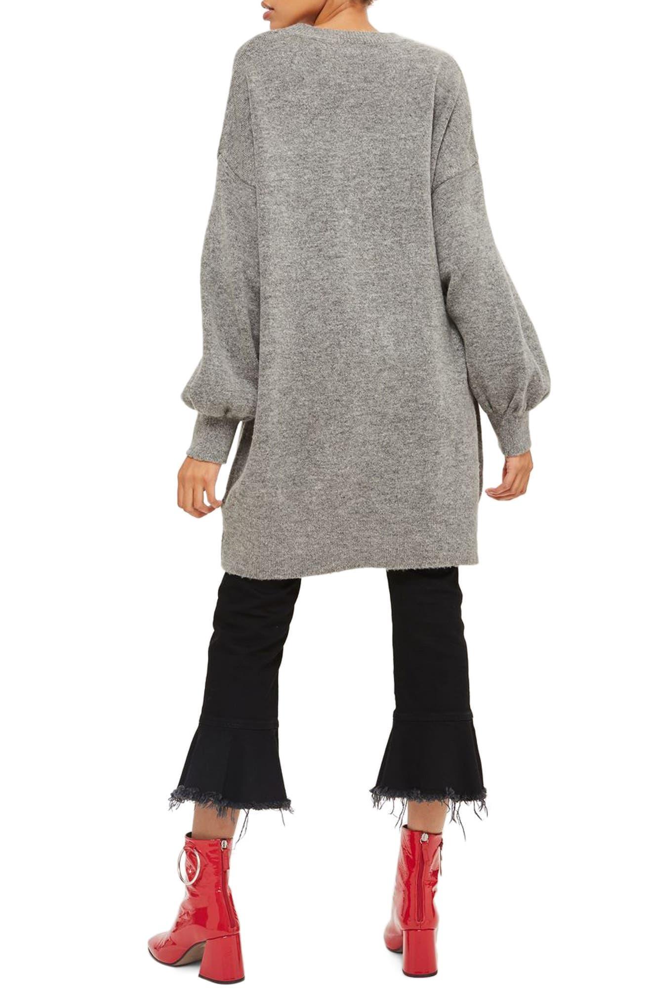 TOPSHOP, Sweater Dress, Alternate thumbnail 2, color, 021