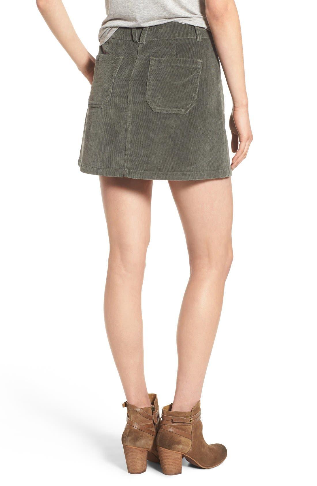 JOLT, Corduroy A-Line Skirt, Alternate thumbnail 4, color, 300