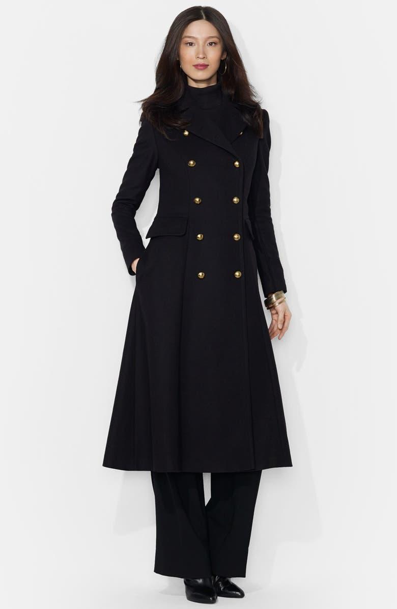 0f2010a148 Lauren Ralph Lauren Long Wool Blend Military Coat (Online Only ...