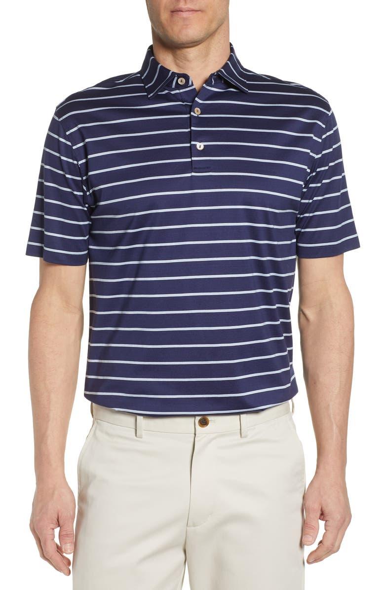 Peter Millar T-shirts TORRINGTON STRIPE COTTON POLO SHIRT