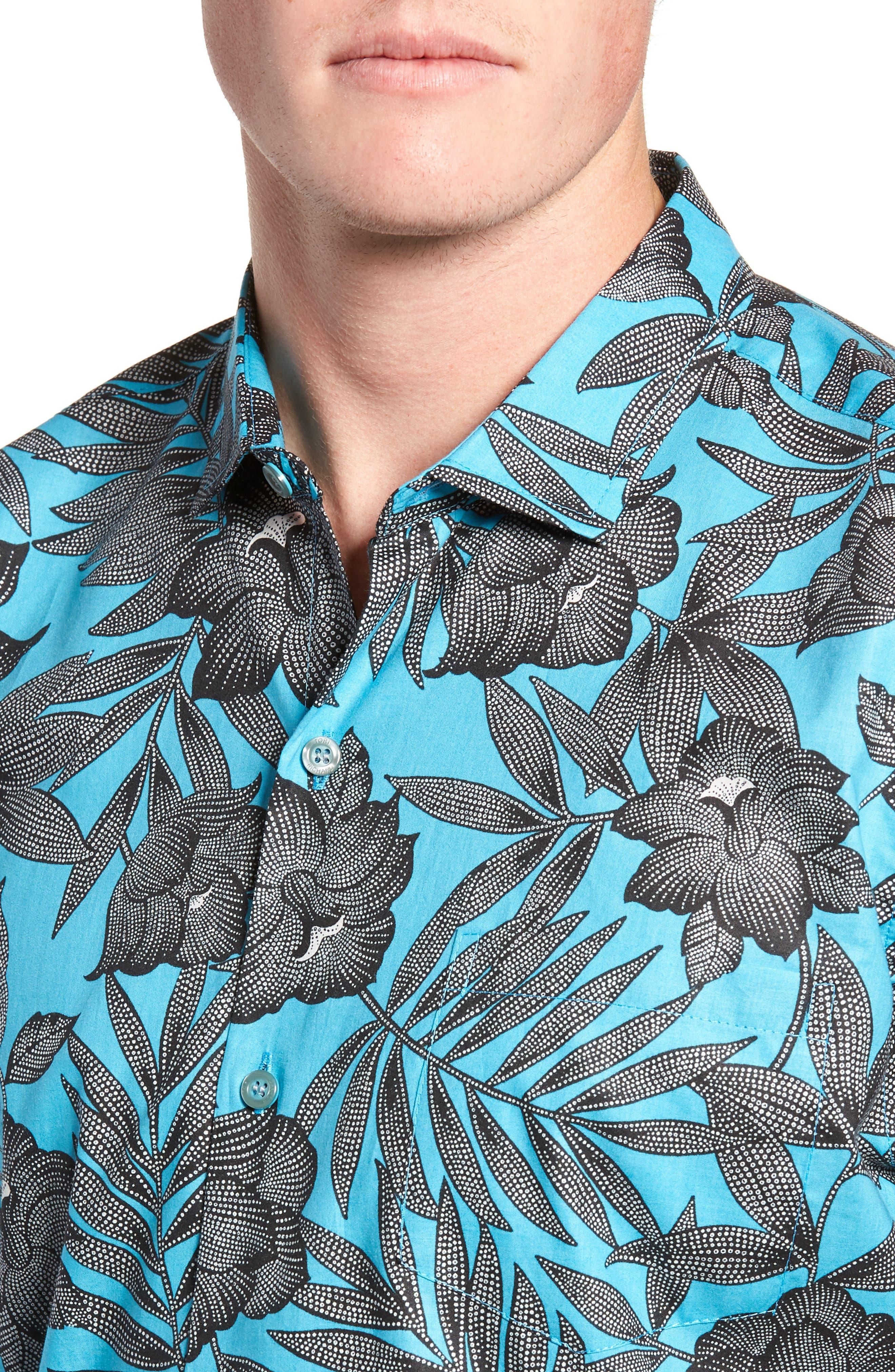 TORI RICHARD, Pollenesia Regular Fit Sport Shirt, Alternate thumbnail 2, color, SURF
