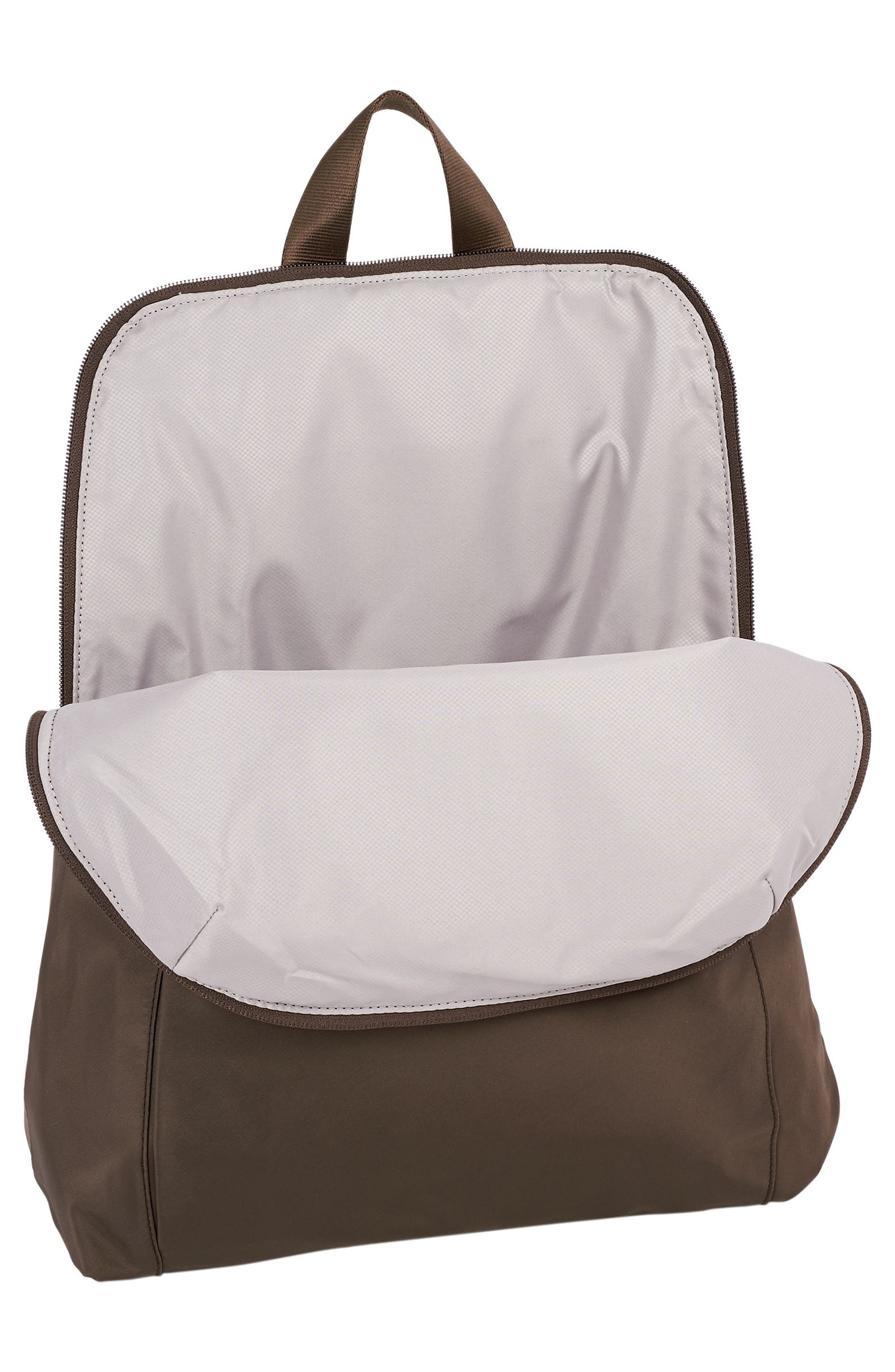TUMI, Voyageur - Just in Case Nylon Travel Backpack, Alternate thumbnail 4, color, MINK