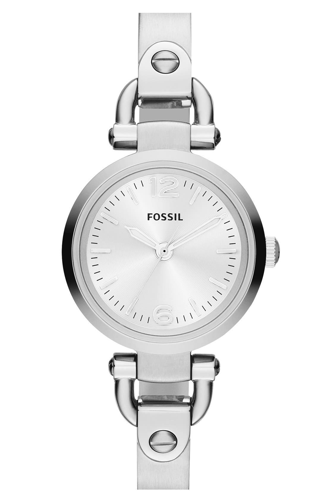 FOSSIL 'Small Georgia' Round Dial Bangle Watch, 26mm, Main, color, NO_COLOR