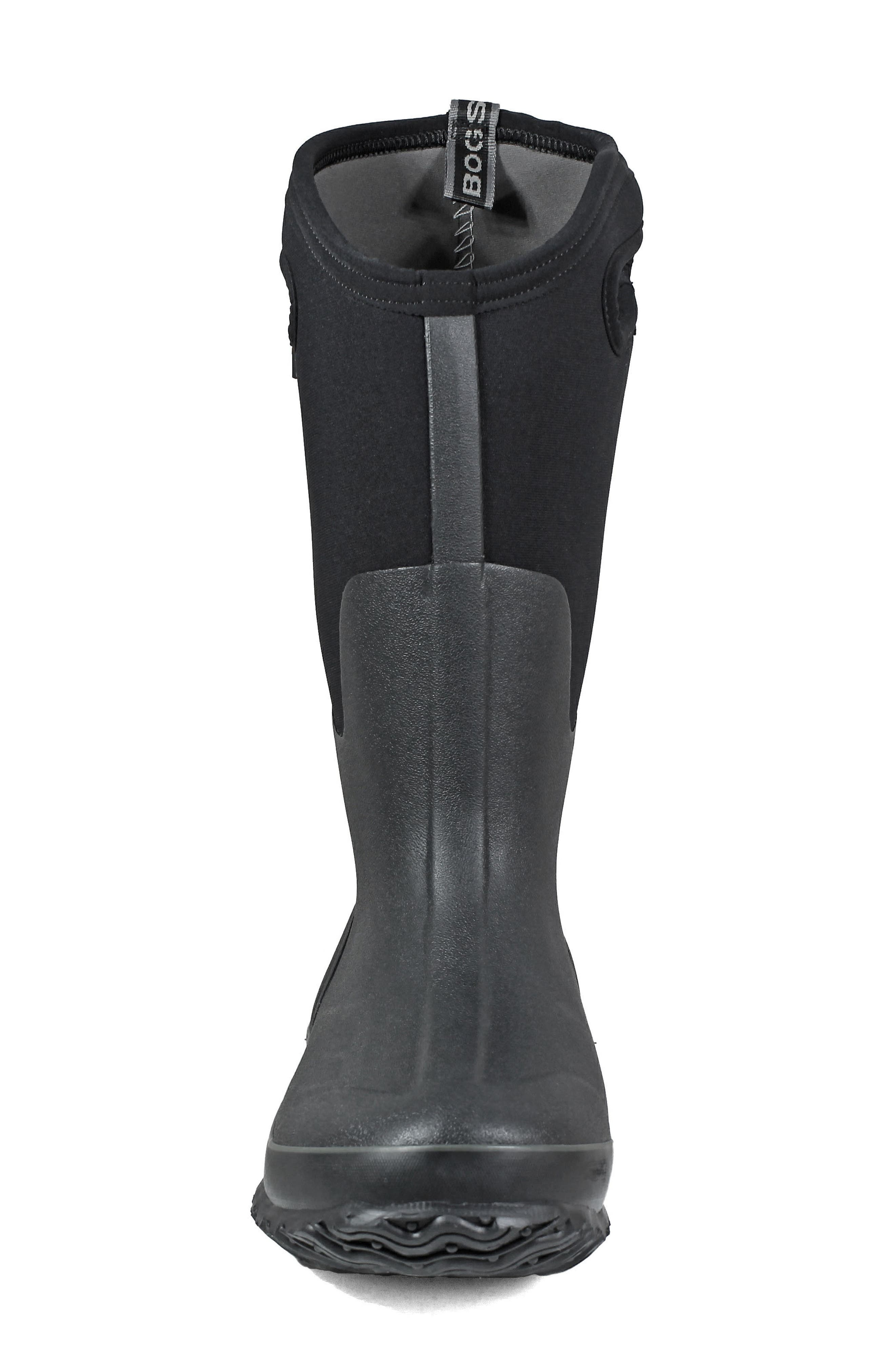BOGS, Classic Tall Waterproof Snow Boot, Alternate thumbnail 4, color, BLACK