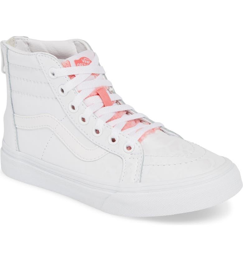 c914d5981ce83e Vans SK8-Hi Zip Leather   Faux Fur Sneaker (Baby