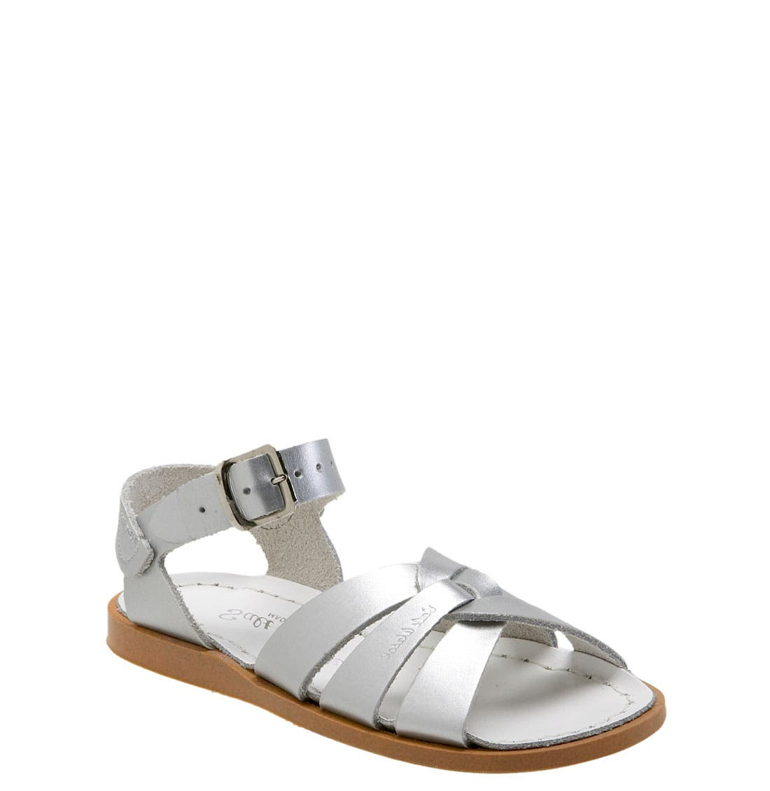 SALT WATER SANDALS BY HOY, Water Friendly Sandal, Main thumbnail 1, color, SILVER