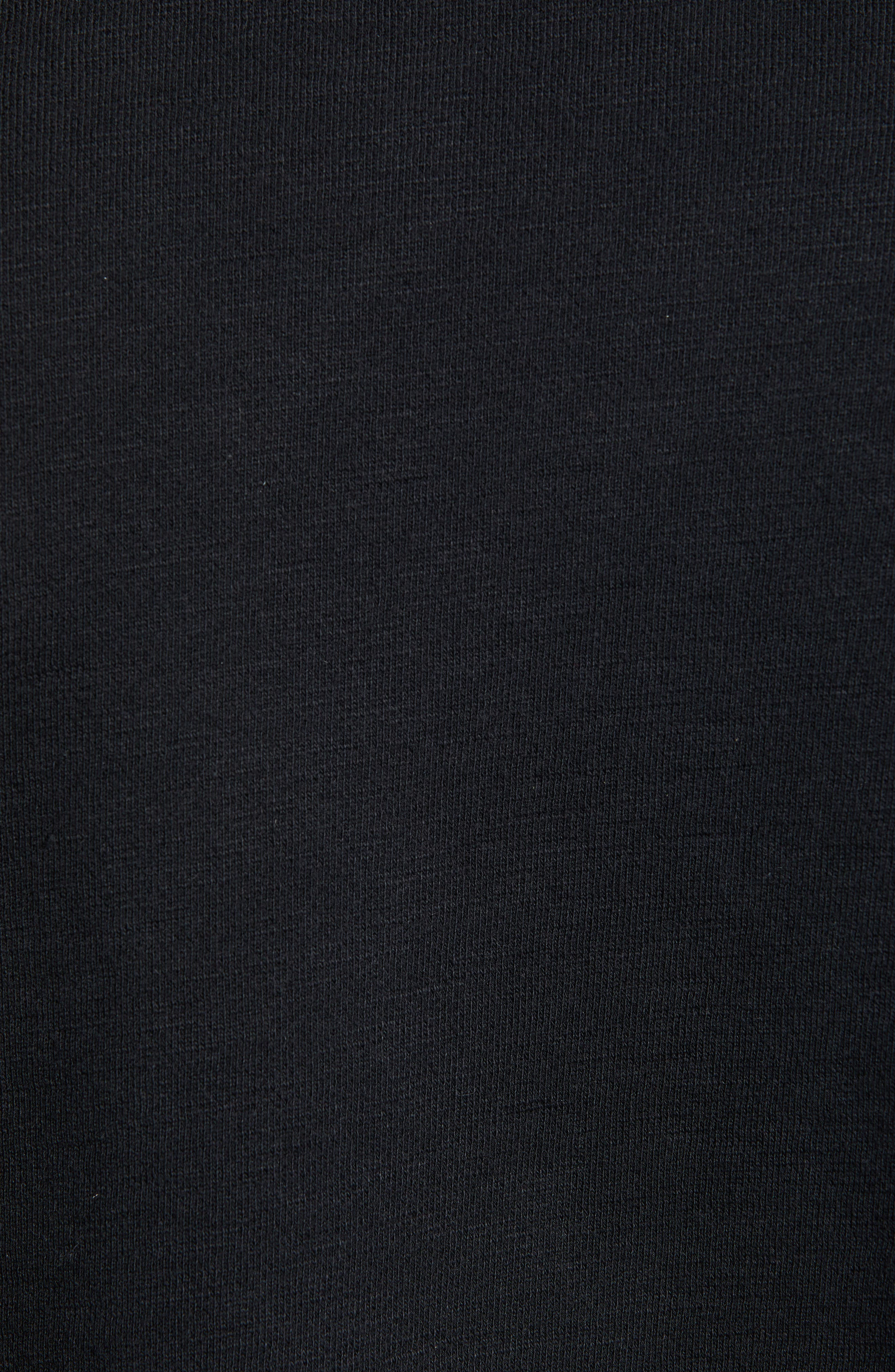 RAG & BONE, Year of the Pig Graphic Sweatshirt, Alternate thumbnail 5, color, BLACK