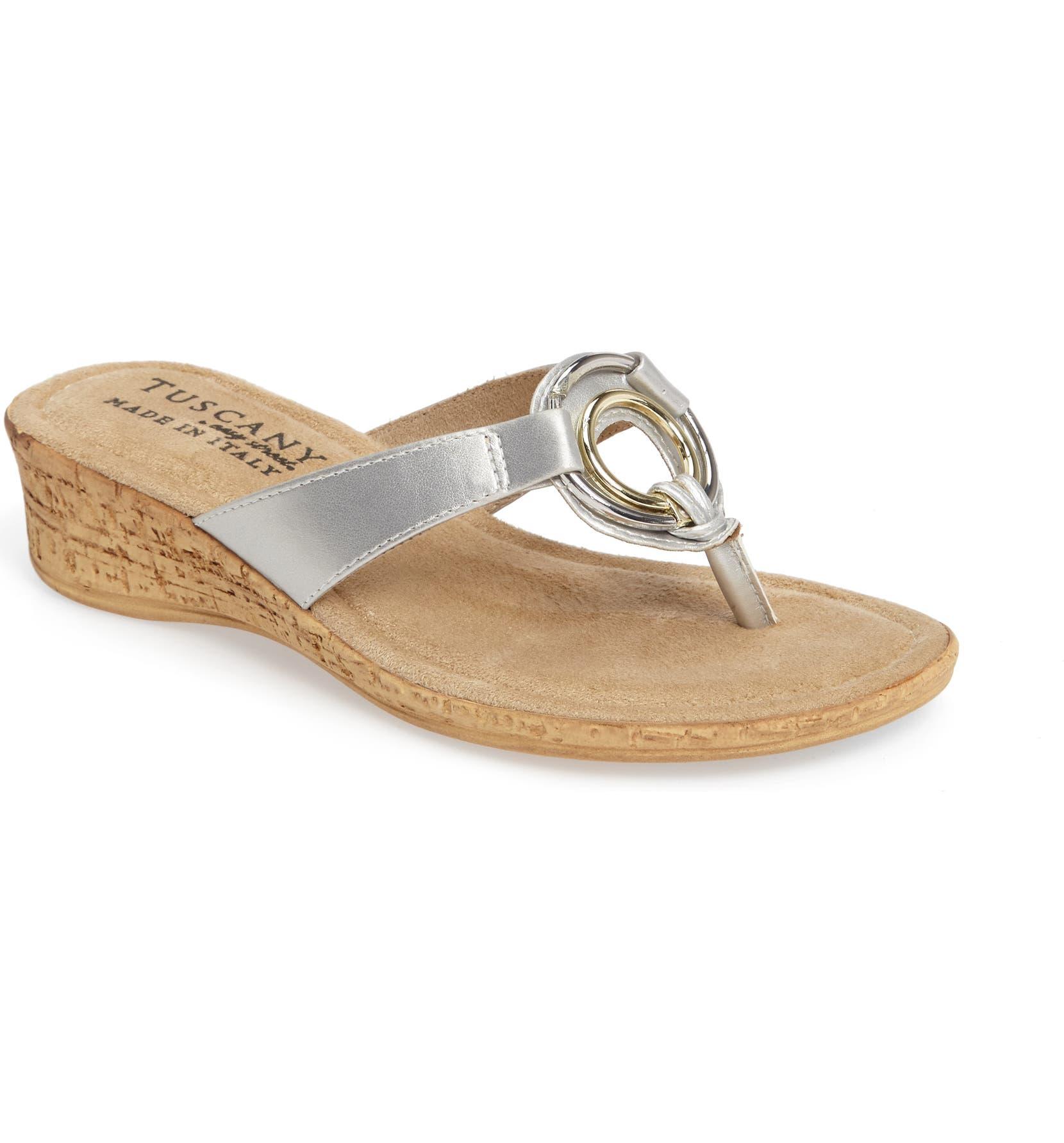 ad4e4051b TUSCANY by Easy Street® Fina Wedge Sandal (Women)