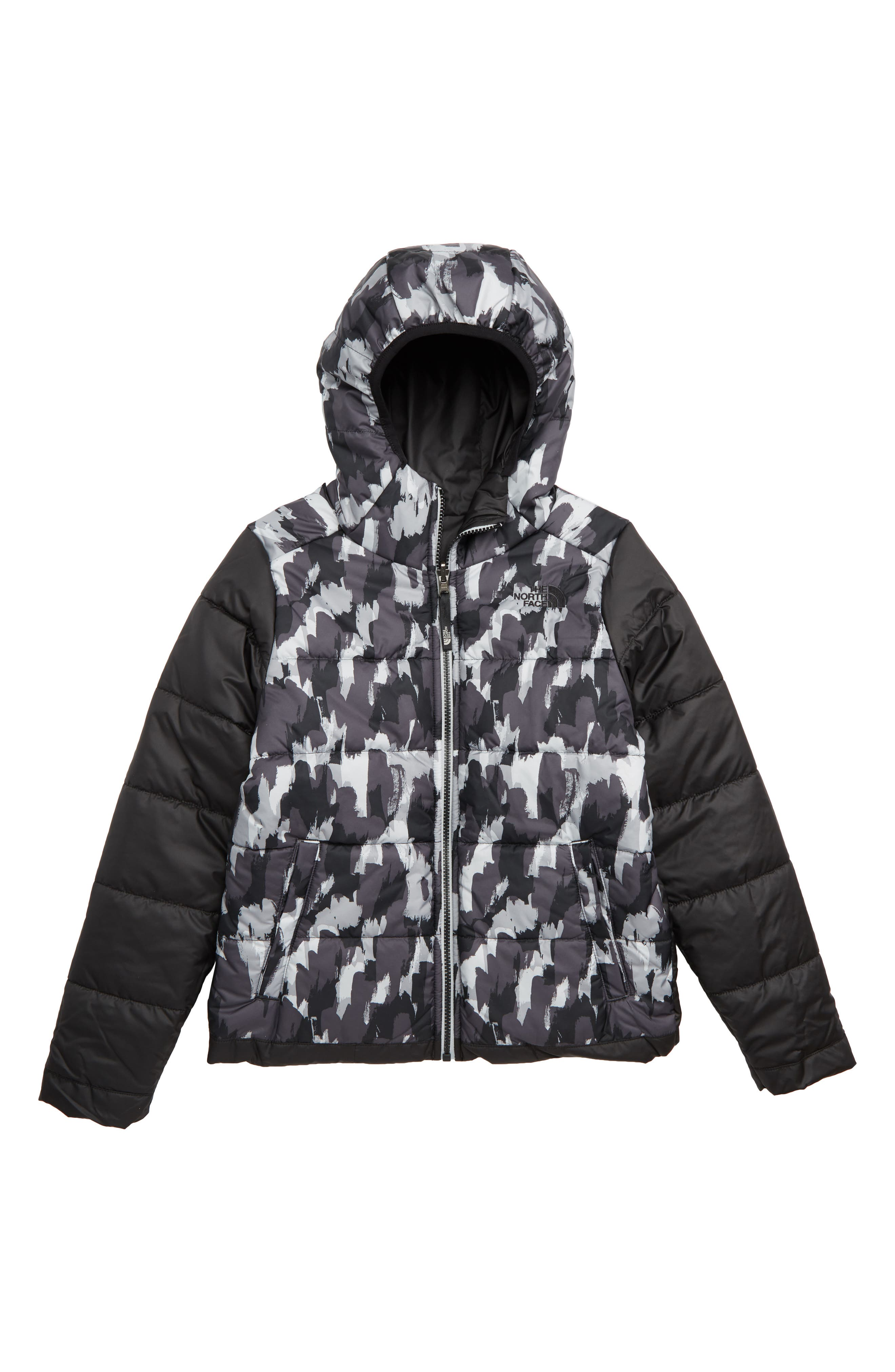 THE NORTH FACE, Perrito Reversible Water-Repellent Hooded Jacket, Alternate thumbnail 2, color, 001