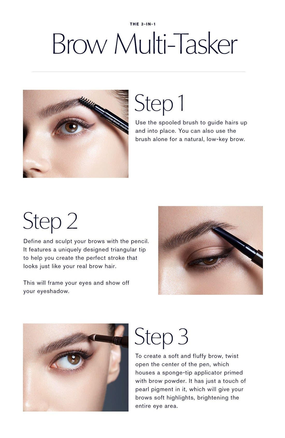 ESTÉE LAUDER, The Brow Multitasker 3-in-1 Brow Tool, Alternate thumbnail 2, color, BLACK