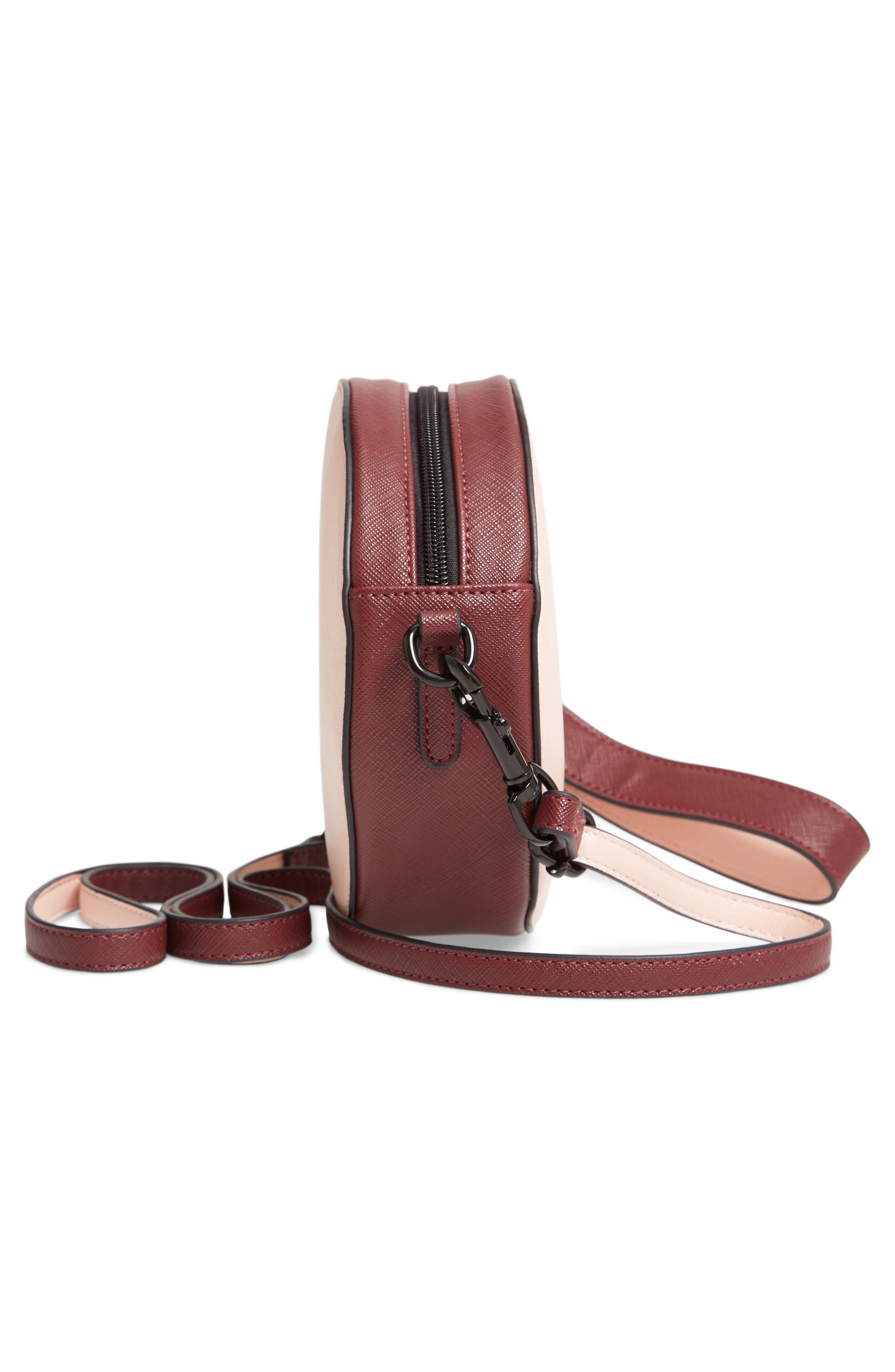 T-SHIRT & JEANS, Faux Leather Colorblock Canteen Crossbody Bag, Alternate thumbnail 7, color, 650