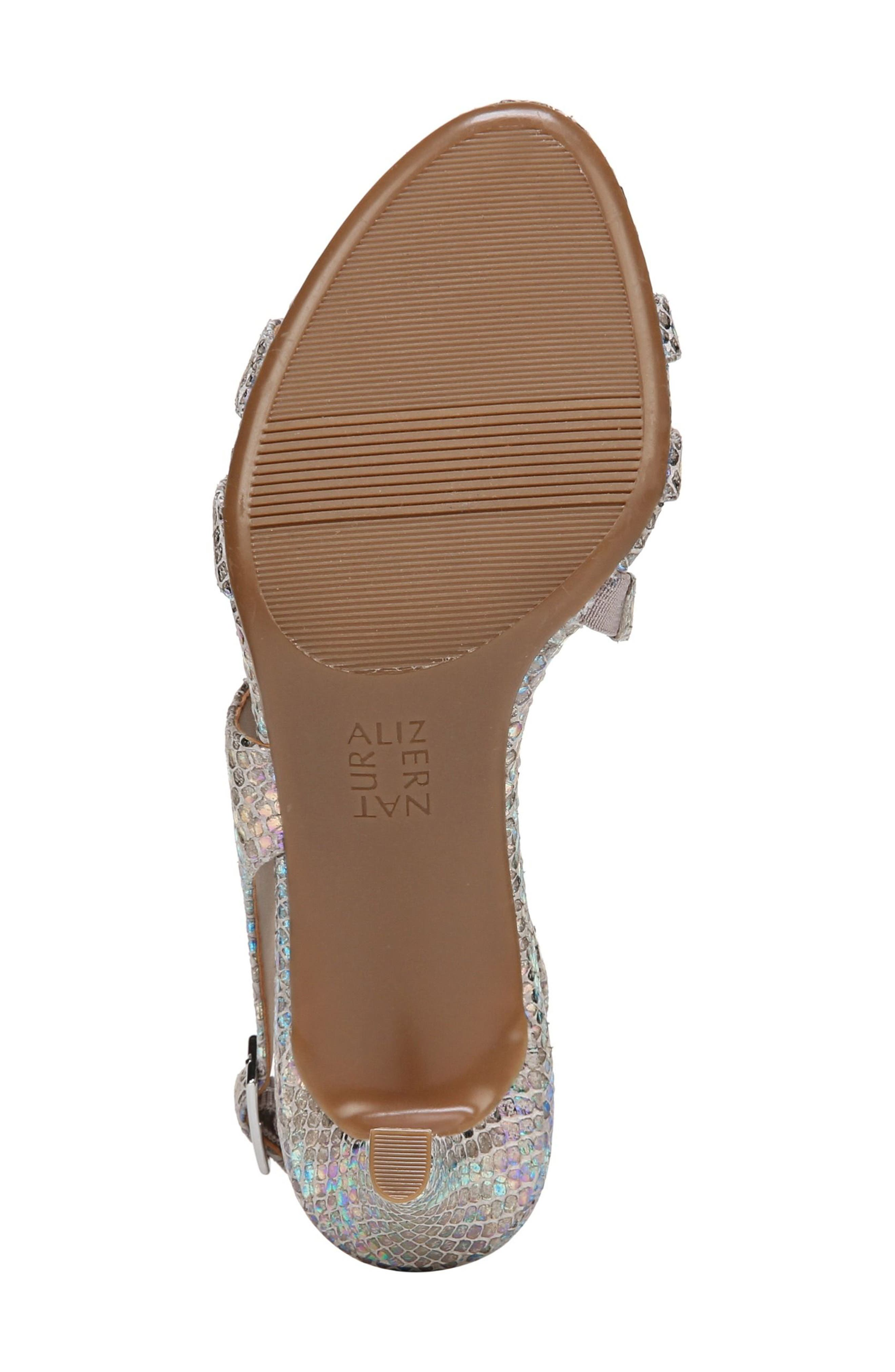 NATURALIZER, Taimi Sandal, Alternate thumbnail 6, color, SILVER SNAKE LEATHER PRINT