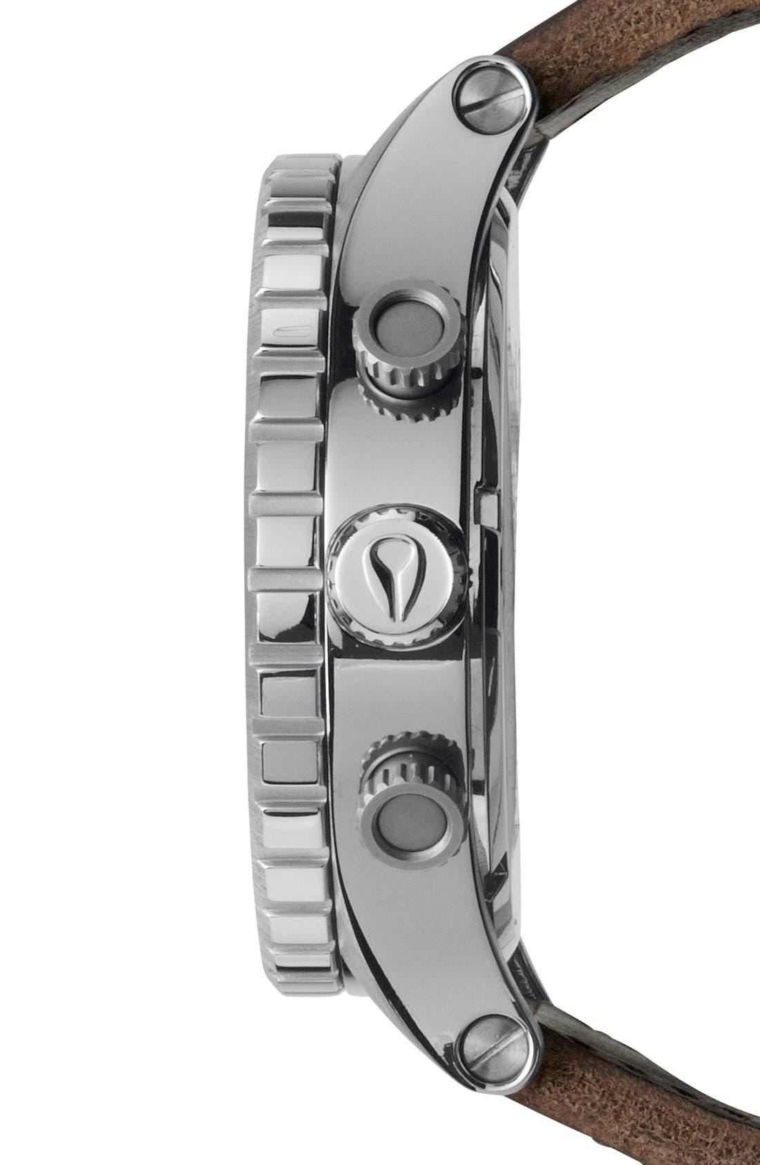 NIXON, 'The 51-30 Chrono' Watch, 51mm, Alternate thumbnail 4, color, SILVER/ BROWN