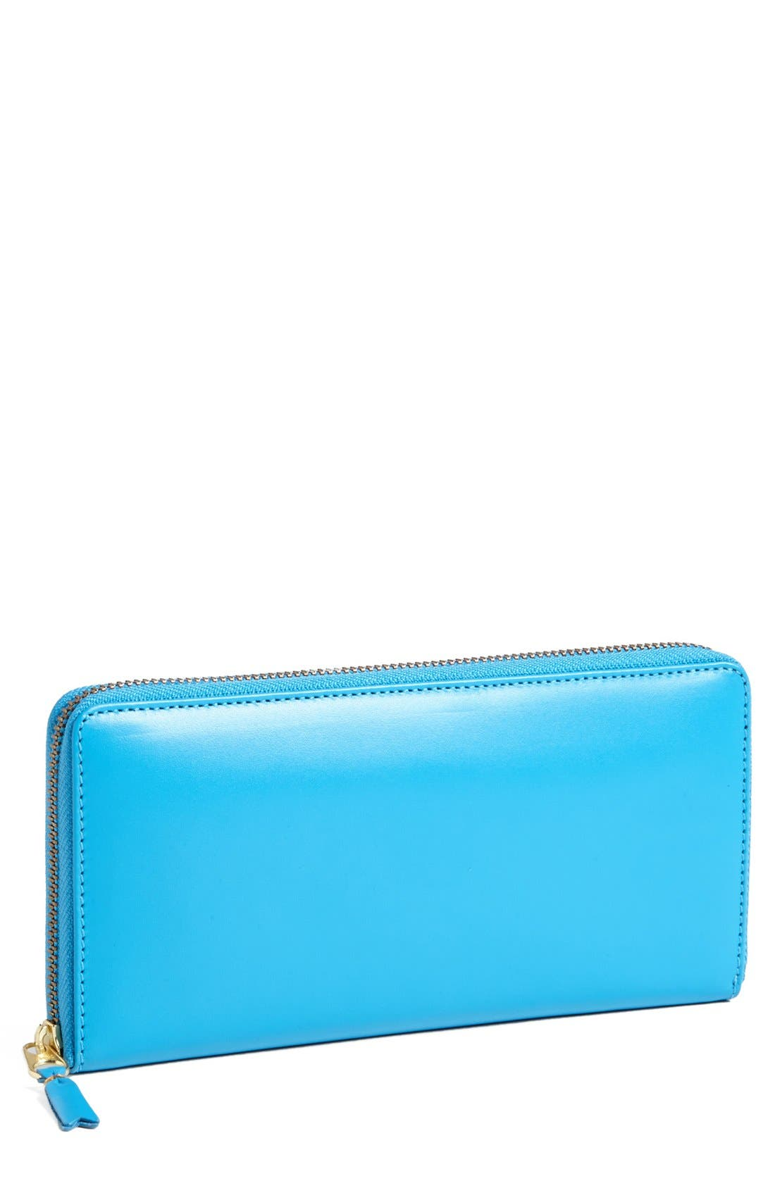 COMME DES GARÇONS Continental Long Wallet, Main, color, BLUE