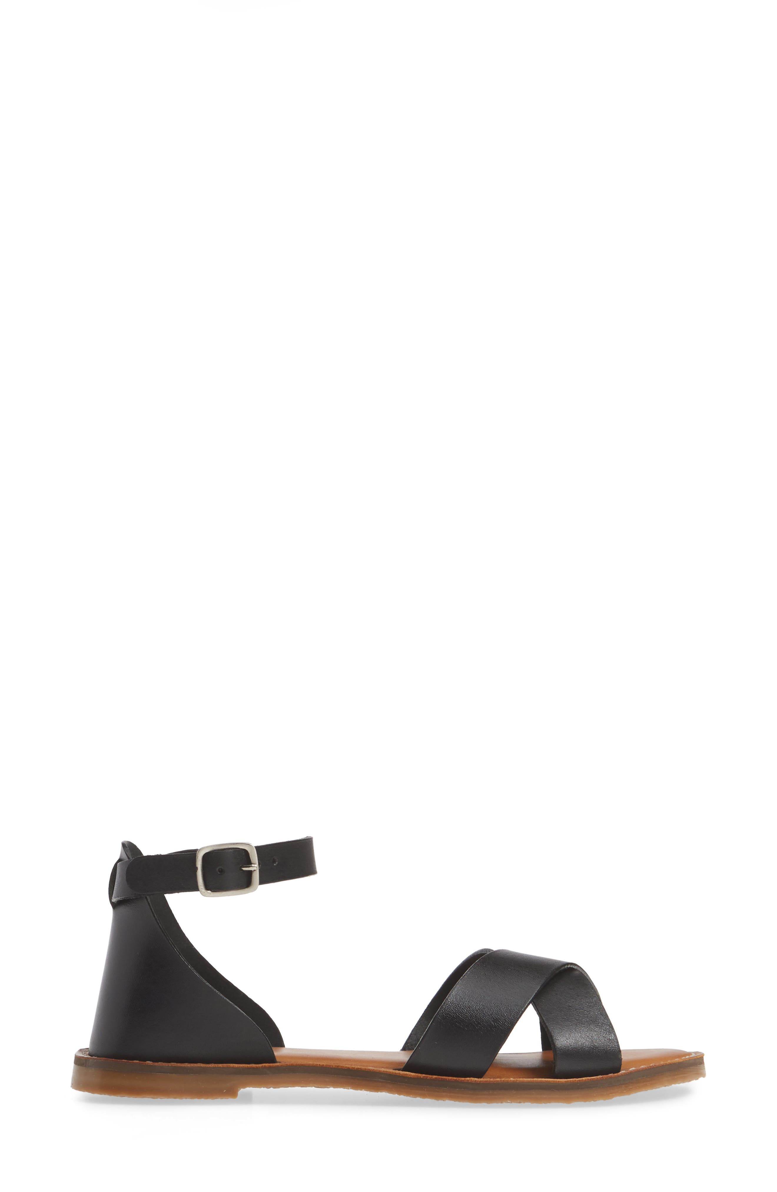 CASLON<SUP>®</SUP>, Oliver Sandal, Alternate thumbnail 4, color, BLACK LEATHER