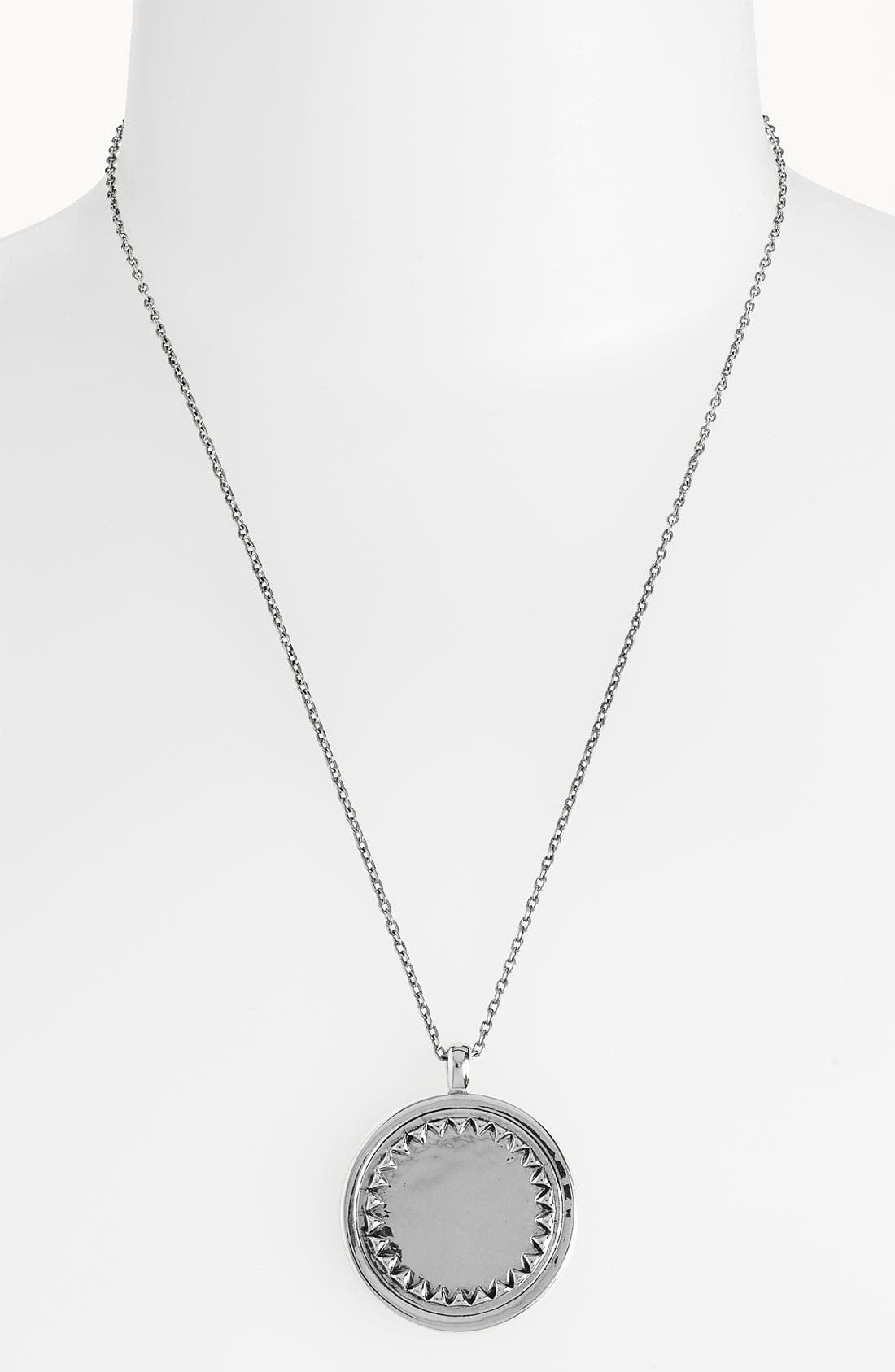 HOUSE OF HARLOW 1960 Metal Sunburst Pendant Necklace, Main, color, 040