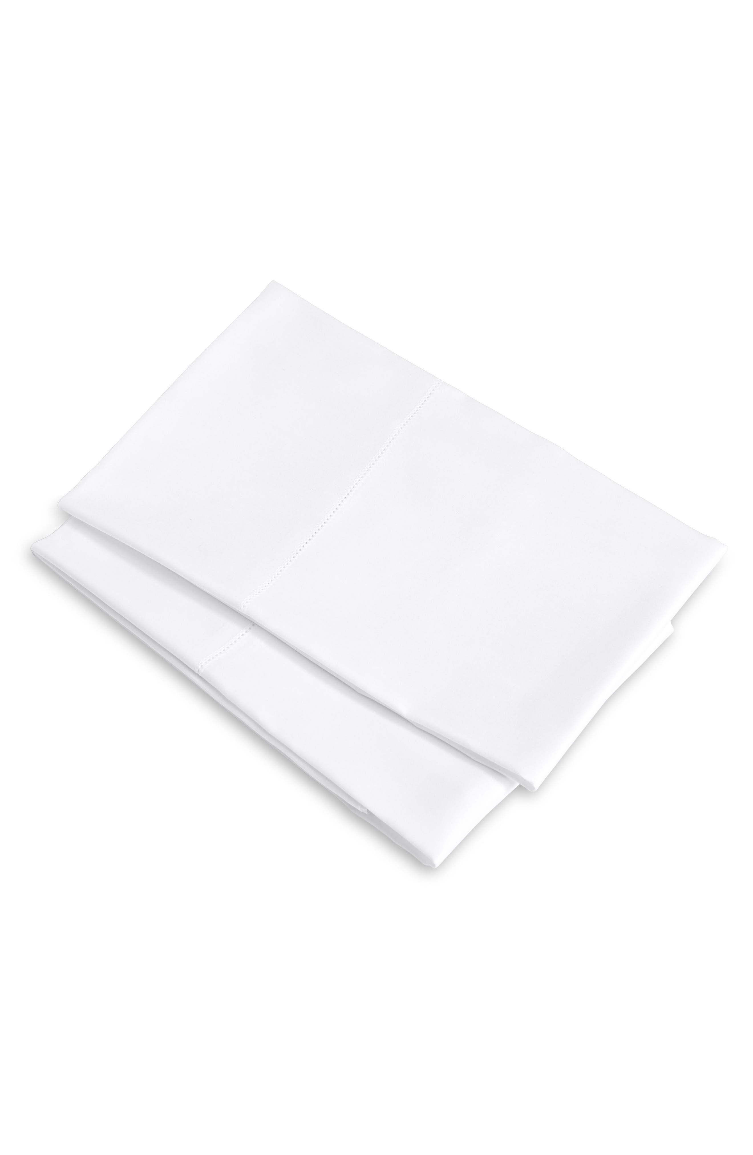 SIGNORIA FIRENZE, Tuscan Dreams 400 Thread Count Set of 2 Pillowcases, Main thumbnail 1, color, WHITE