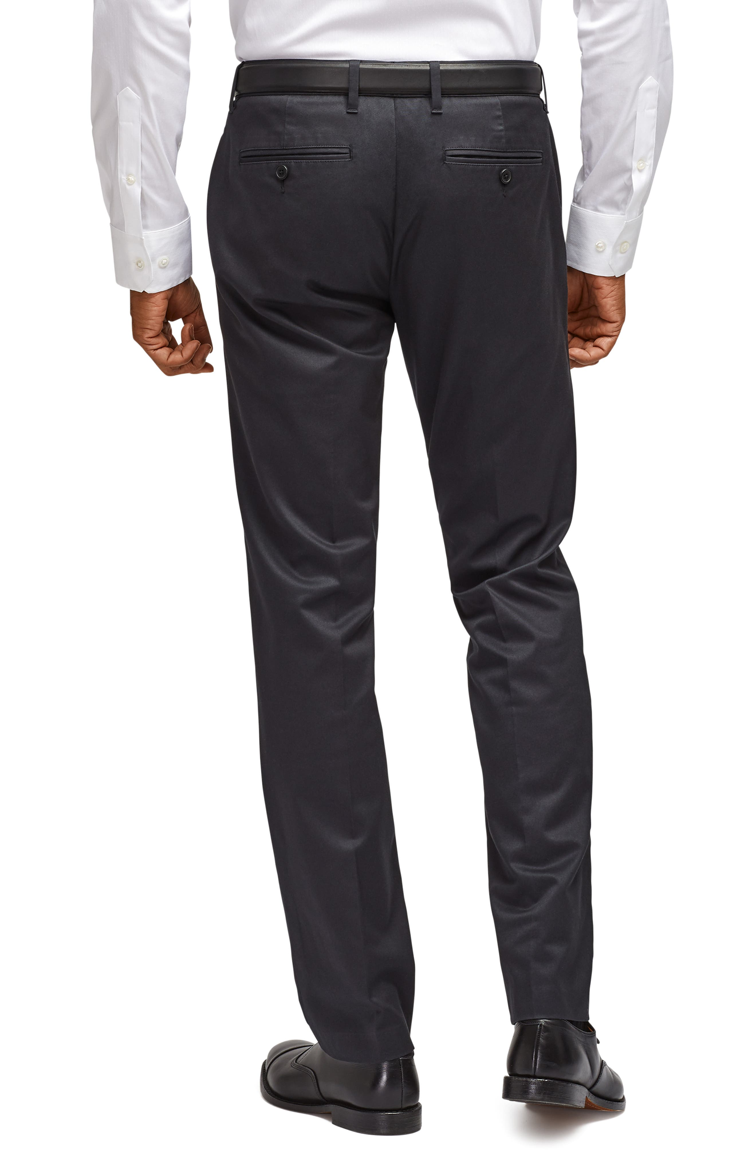 BONOBOS, Weekday Warrior Slim Fit Stretch Dress Pants, Alternate thumbnail 2, color, BLACK