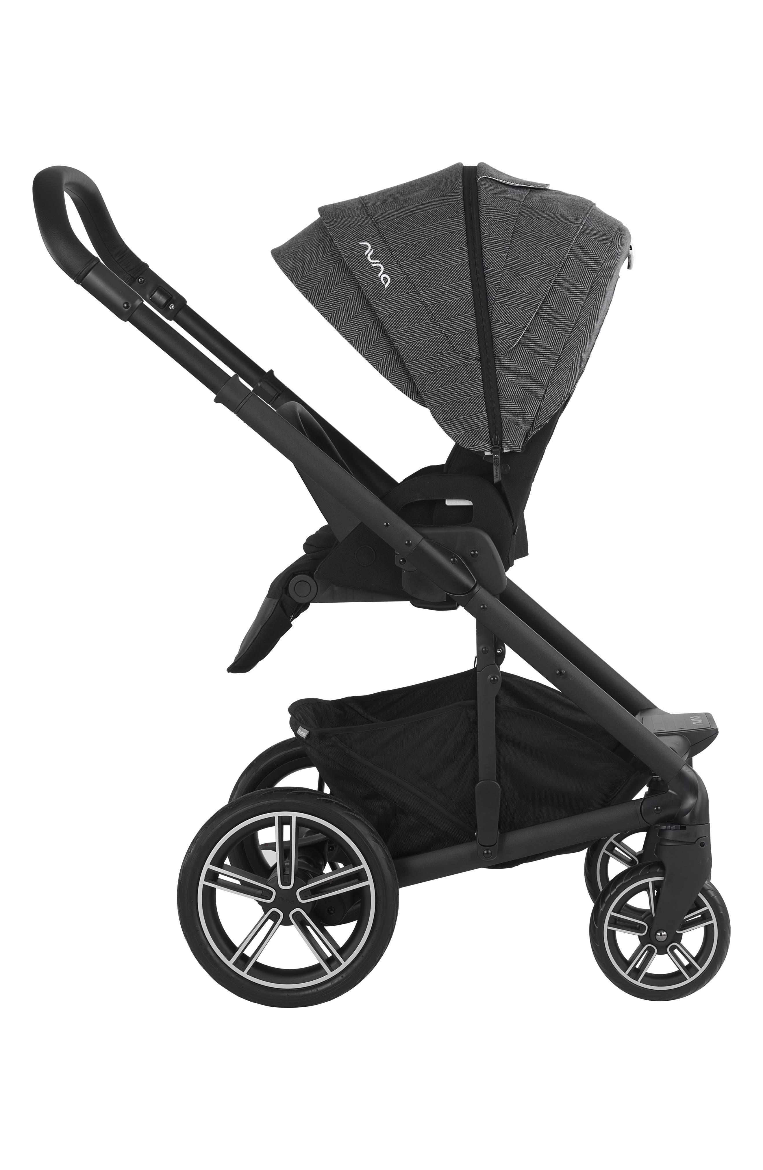 NUNA, 2019 MIXX<sup>™</sup> Stroller & PIPA<sup>™</sup> Lite LX Infant Car Seat Set Travel System, Alternate thumbnail 3, color, VERONA CAVIAR