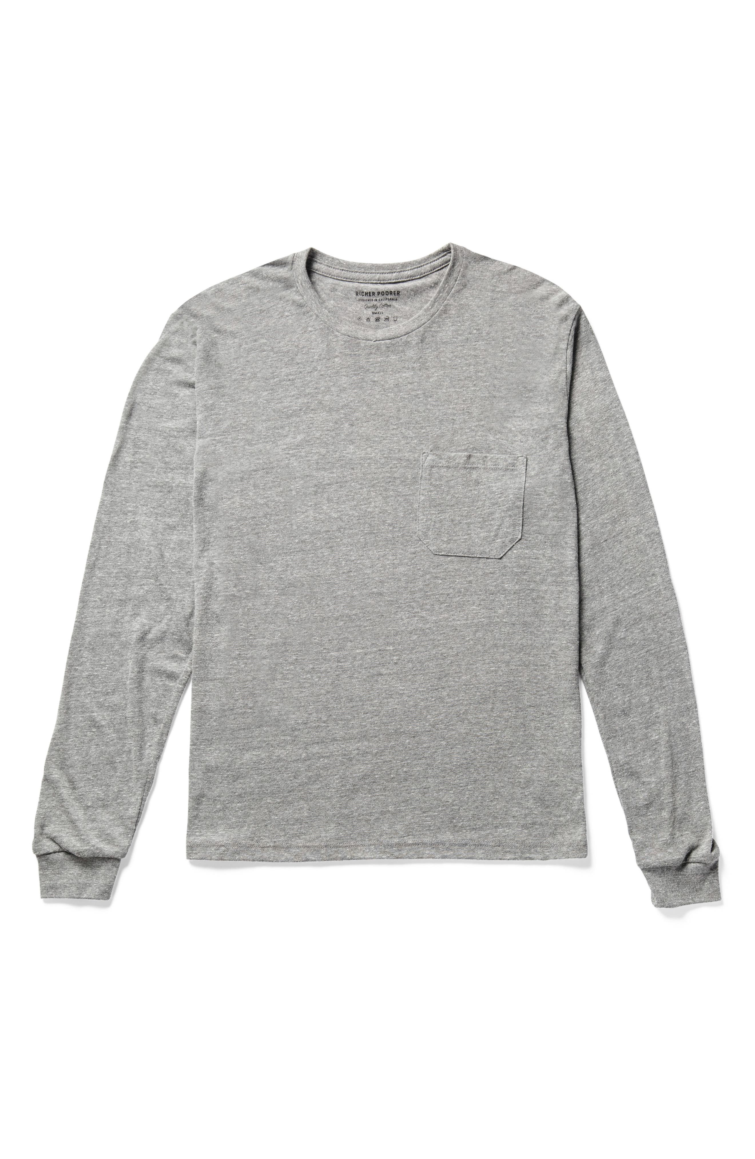 RICHER POORER, Long Sleeve Pocket Tee, Alternate thumbnail 3, color, 028