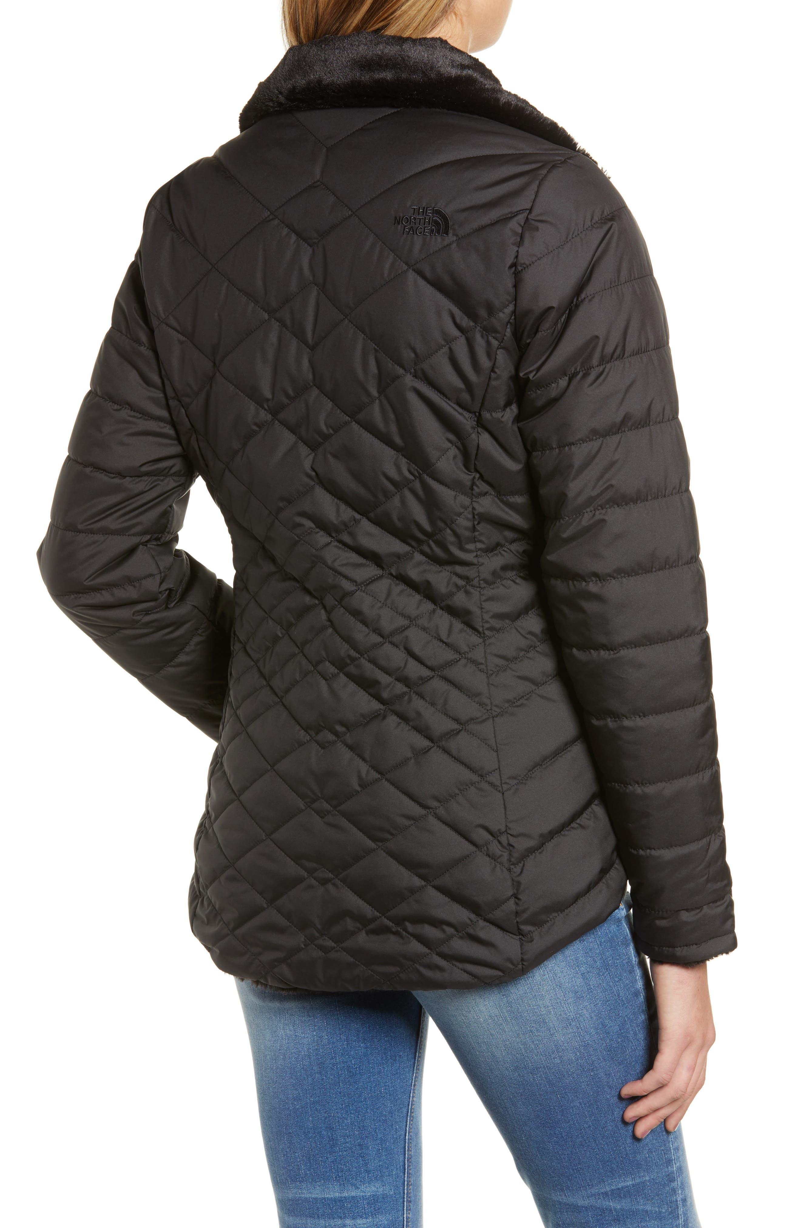 THE NORTH FACE, Mossbud Reversible Heatseeker<sup>™</sup> Wind Resistant Jacket, Alternate thumbnail 2, color, TNF BLACK