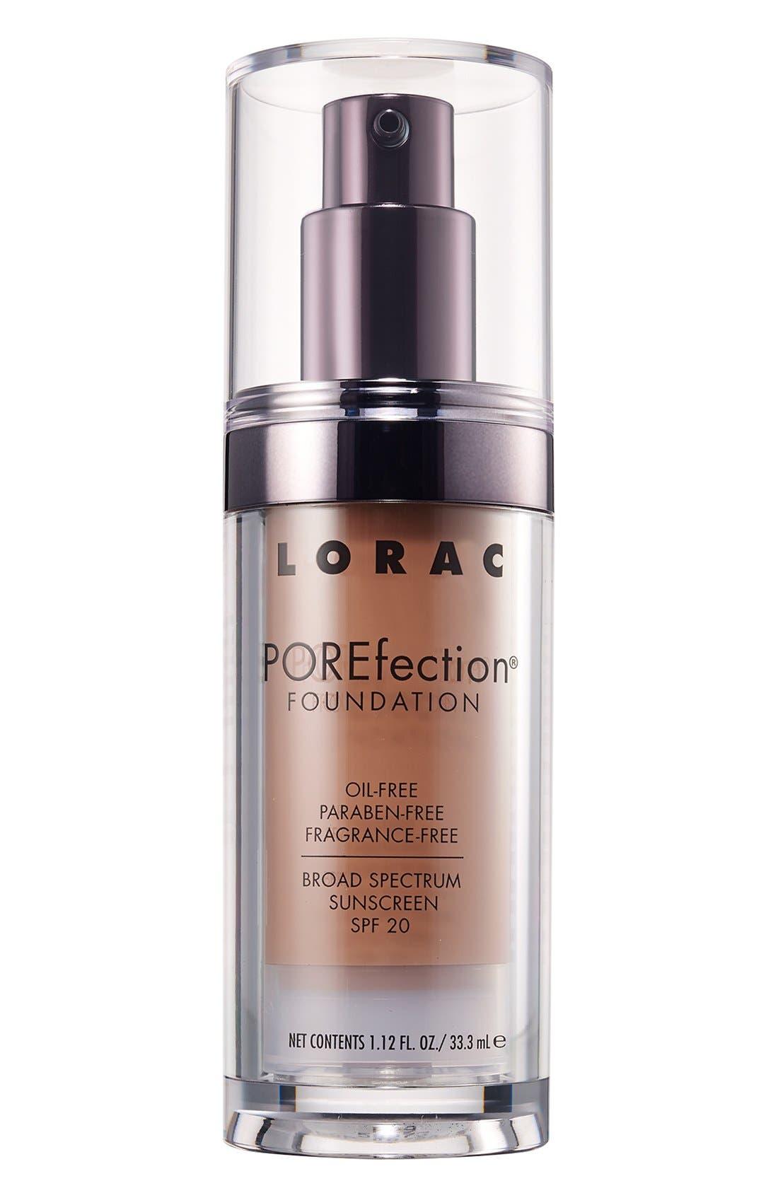 LORAC, 'POREfection<sup>®</sup>' Foundation, Main thumbnail 1, color, PR09 - TAN