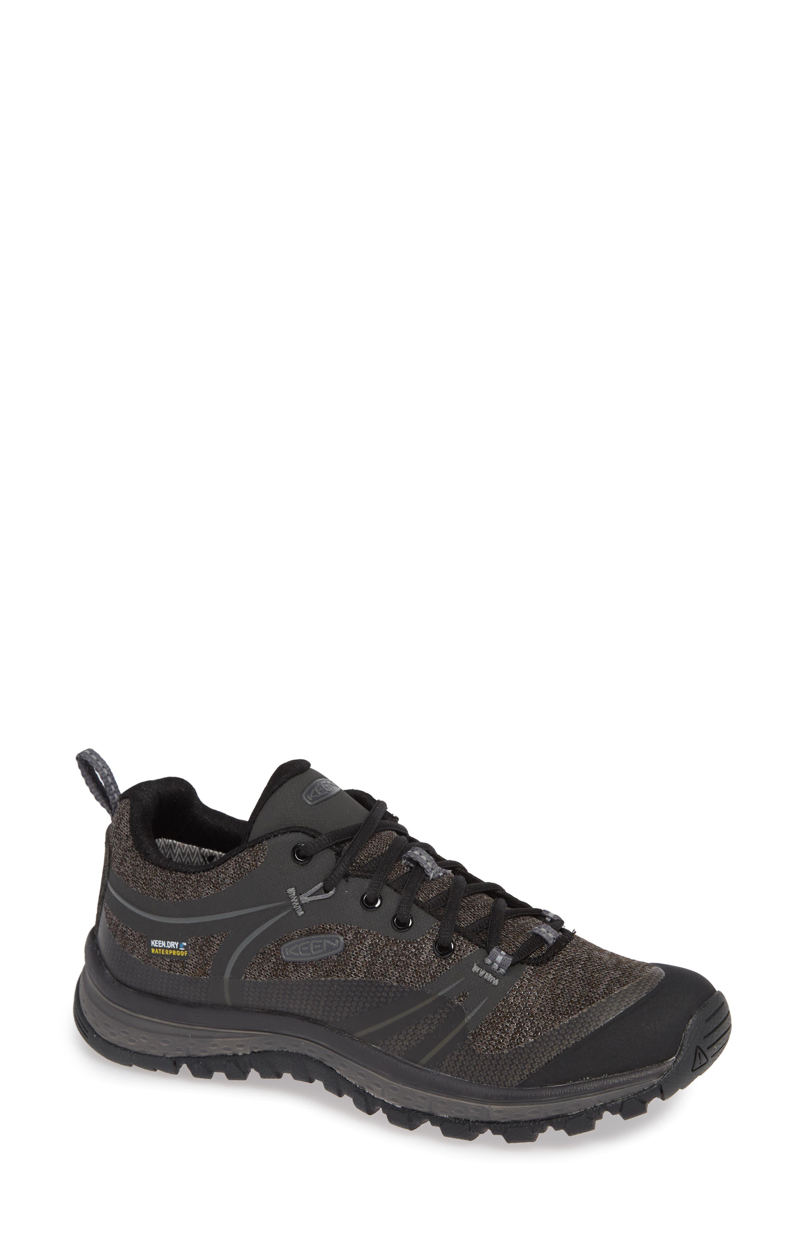 KEEN, Terradora Hiking Waterproof Sneaker, Main thumbnail 1, color, RAVEN/ GARGOYLE