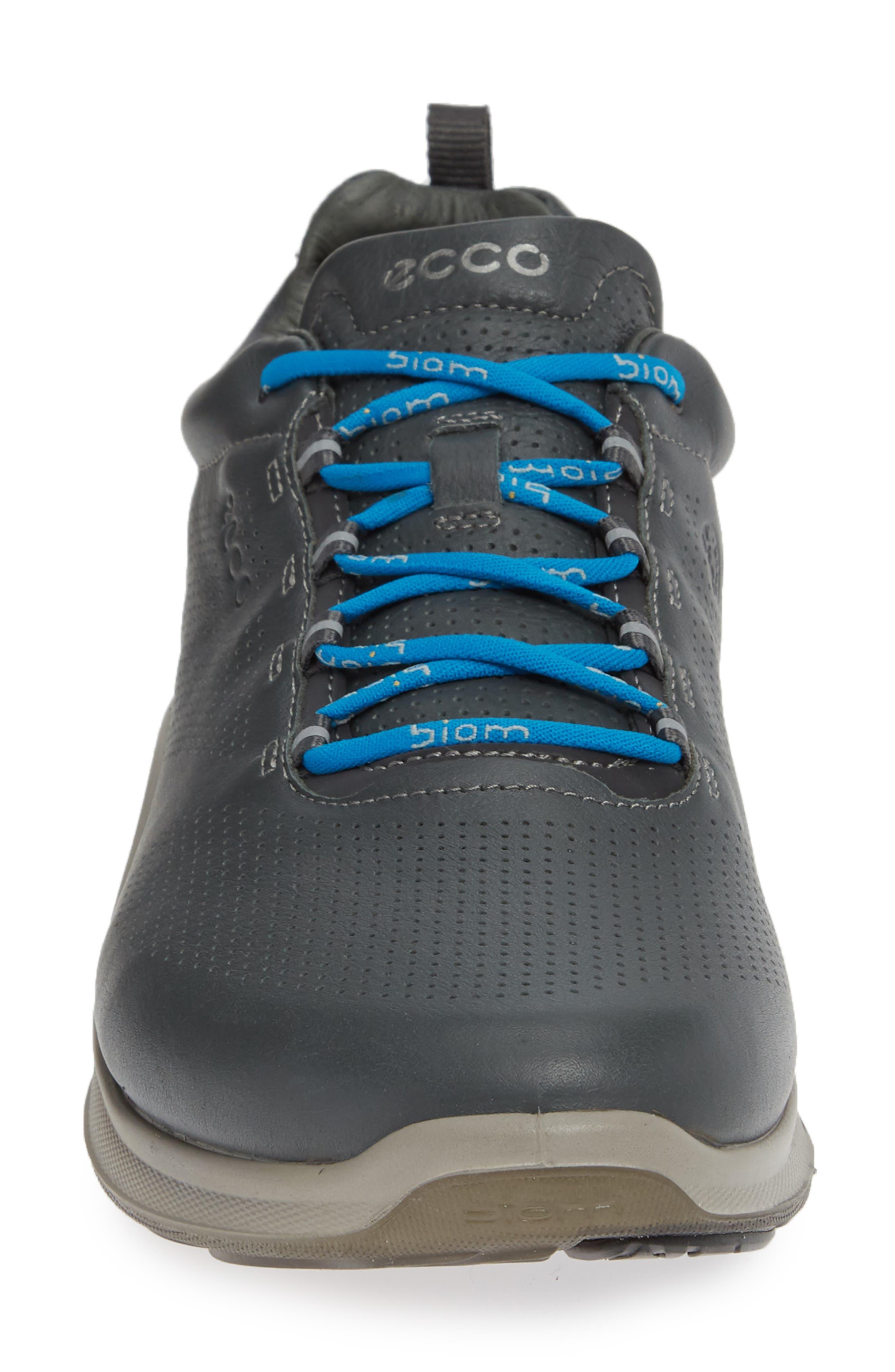 ECCO, 'BIOM Fjuel' Sneaker, Alternate thumbnail 4, color, DARK SHADOW LEATHER