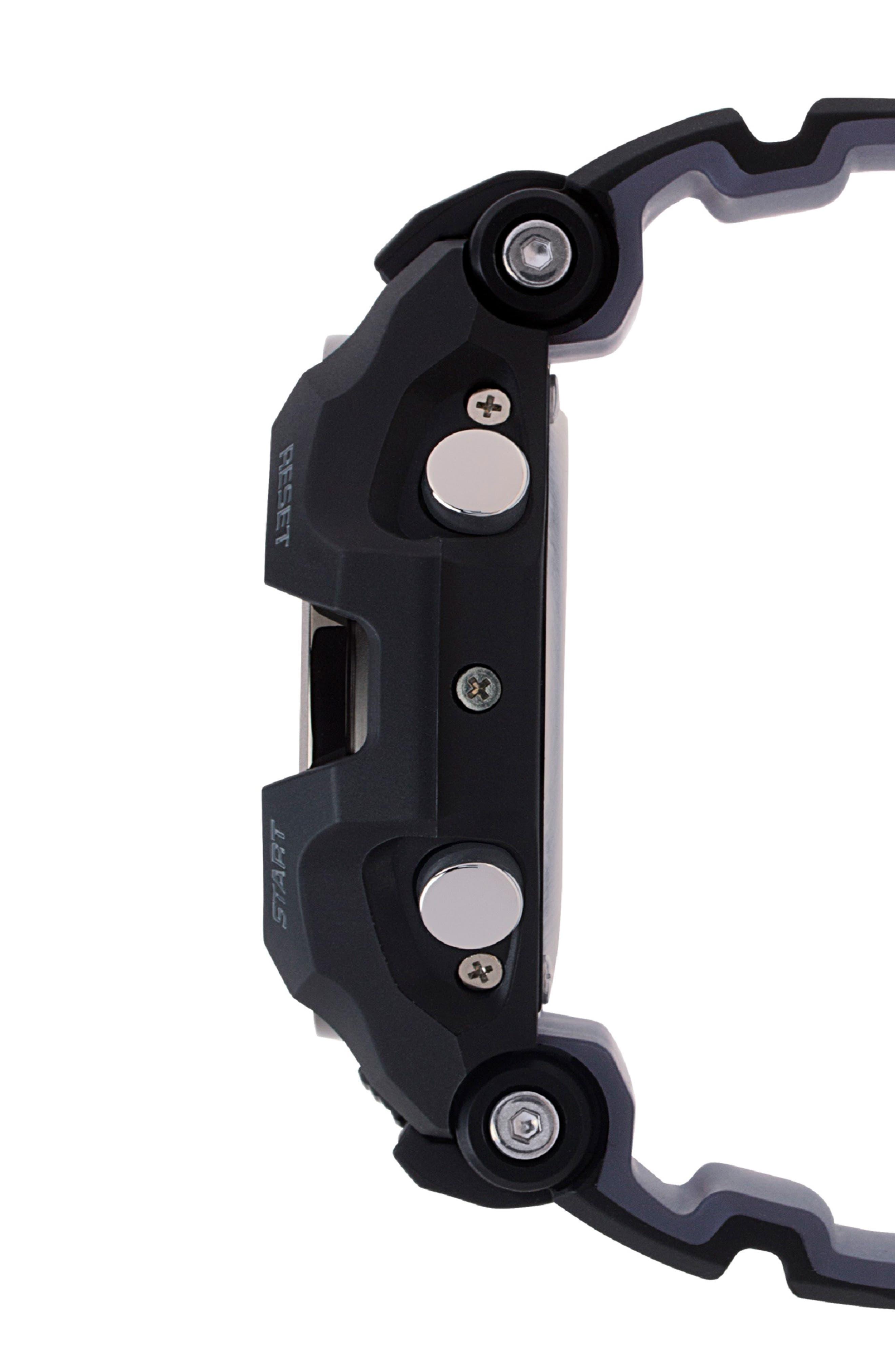 G-SHOCK BABY-G, G-Shock GravityMaster Ana-Digi Bluetooth<sup>®</sup> Enabled Resin Strap Watch, 49mm, Alternate thumbnail 3, color, BLACK MULTI