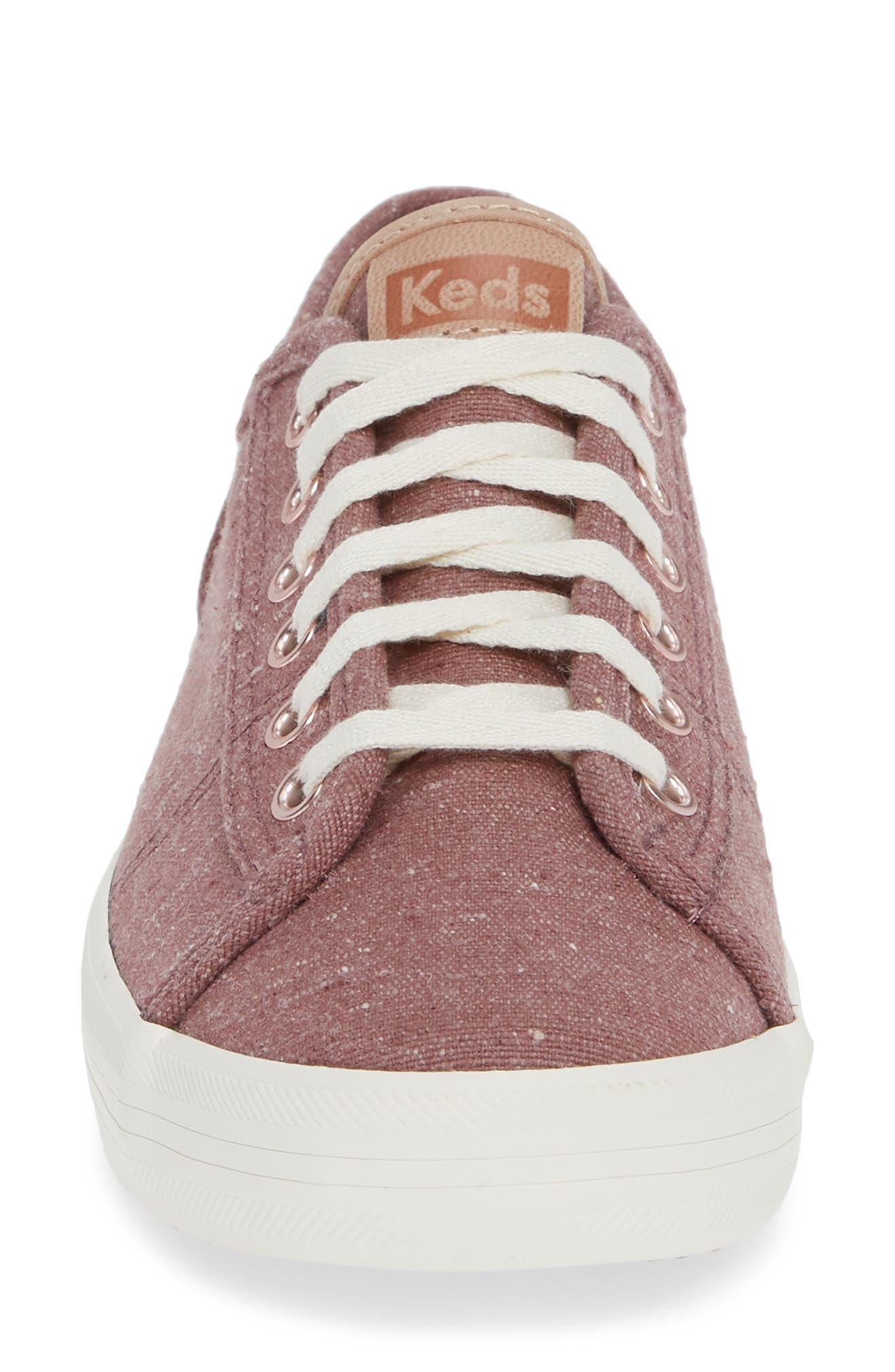 KEDS<SUP>®</SUP>, Kickstart Sneaker, Alternate thumbnail 4, color, MAUVE