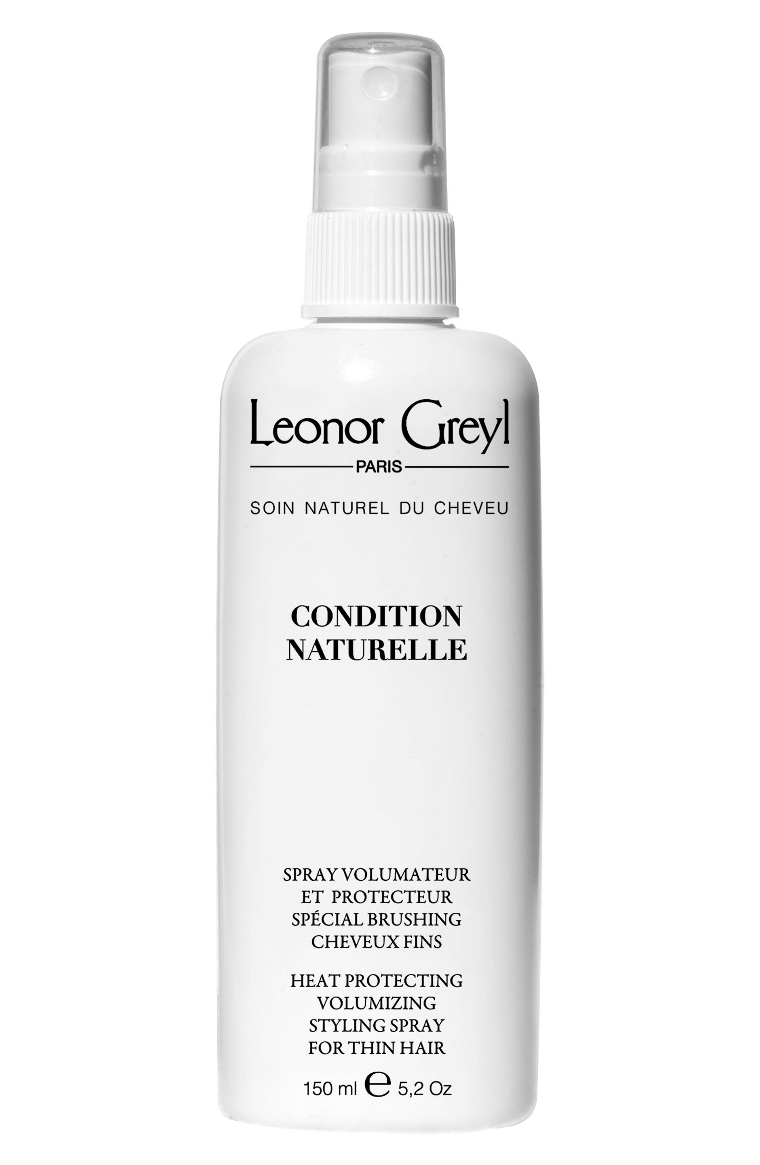 LEONOR GREYL PARIS Condition Naturelle Heat Protective Styling Spray for Thin Hair, Main, color, NO COLOR