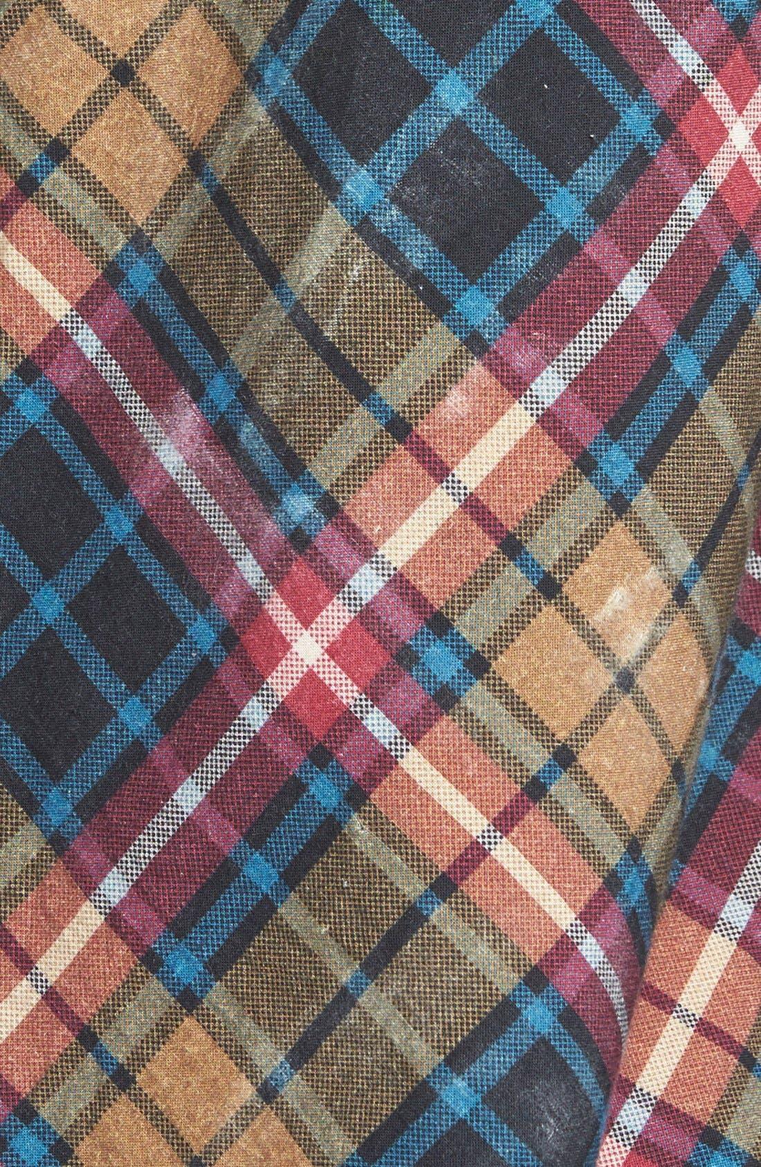 FREE PEOPLE, Stitch Detail Plaid Shirt, Alternate thumbnail 2, color, 300