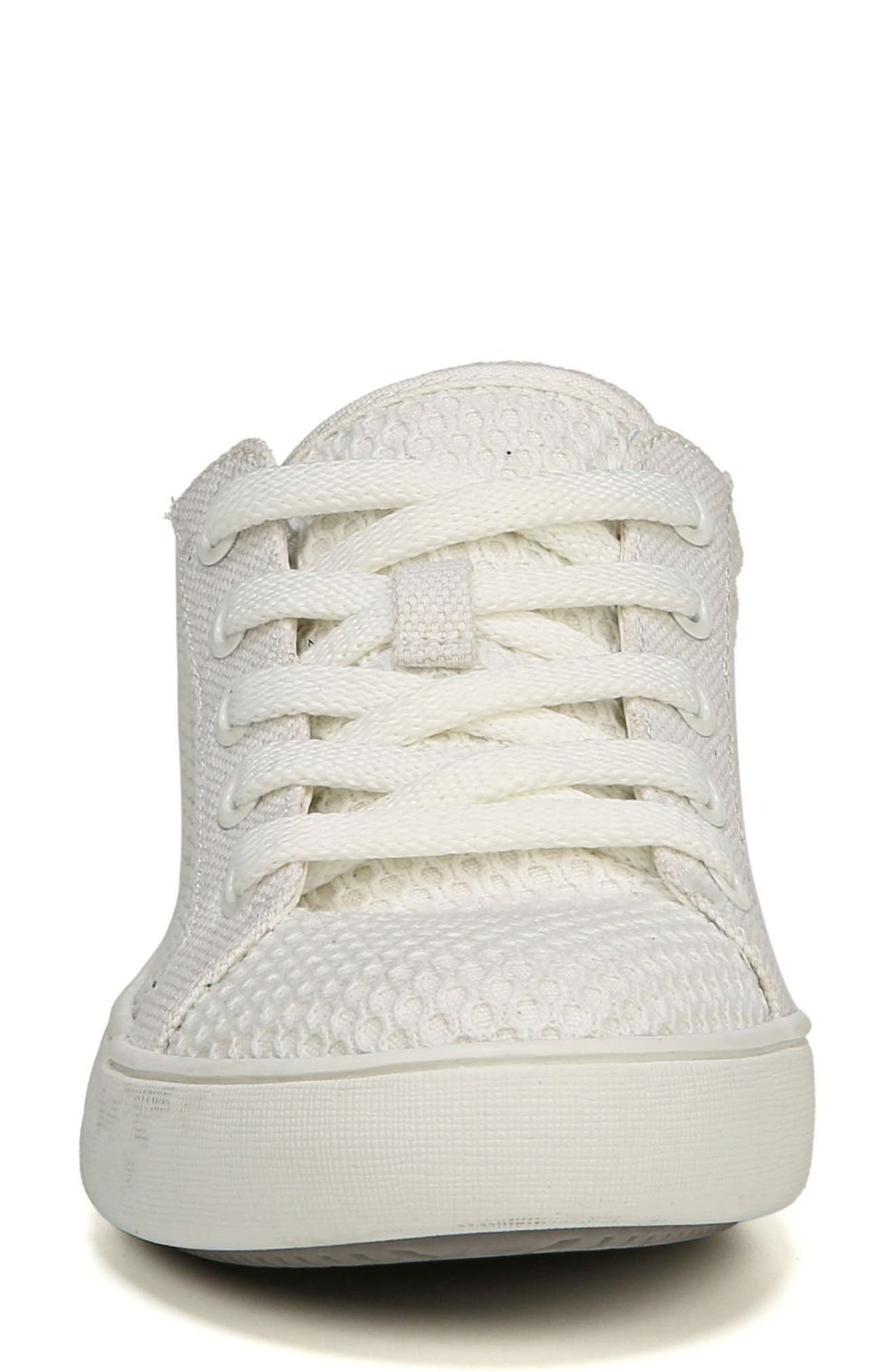 NATURALIZER, Morrison III Perforated Sneaker, Alternate thumbnail 4, color, WHITE FABRIC