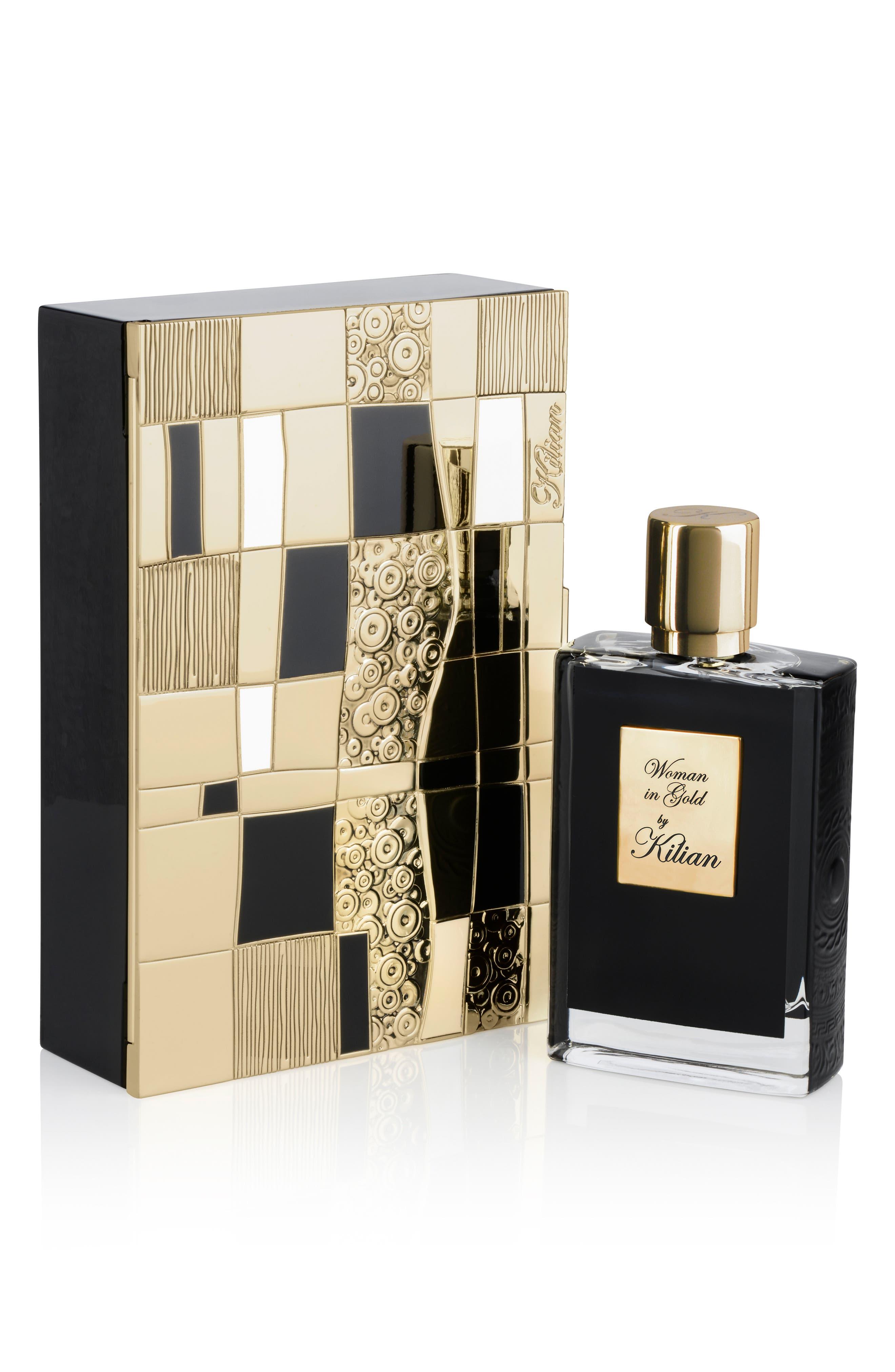 KILIAN, Woman in Gold Collector's Edition Refillable Perfume Spray, Alternate thumbnail 3, color, NO COLOR
