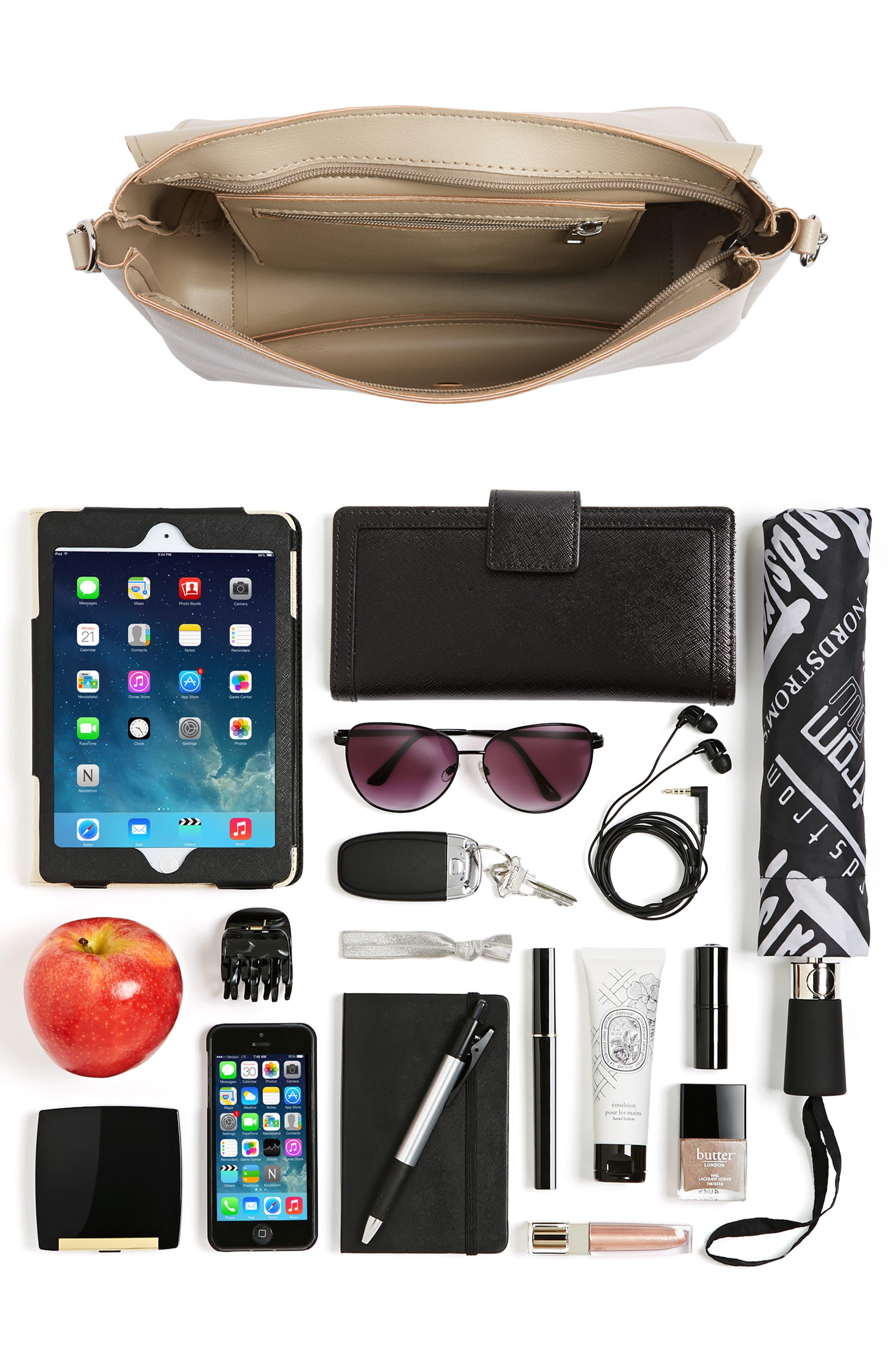 BP., Faux Leather Flap Crossbody Bag, Alternate thumbnail 7, color, 020