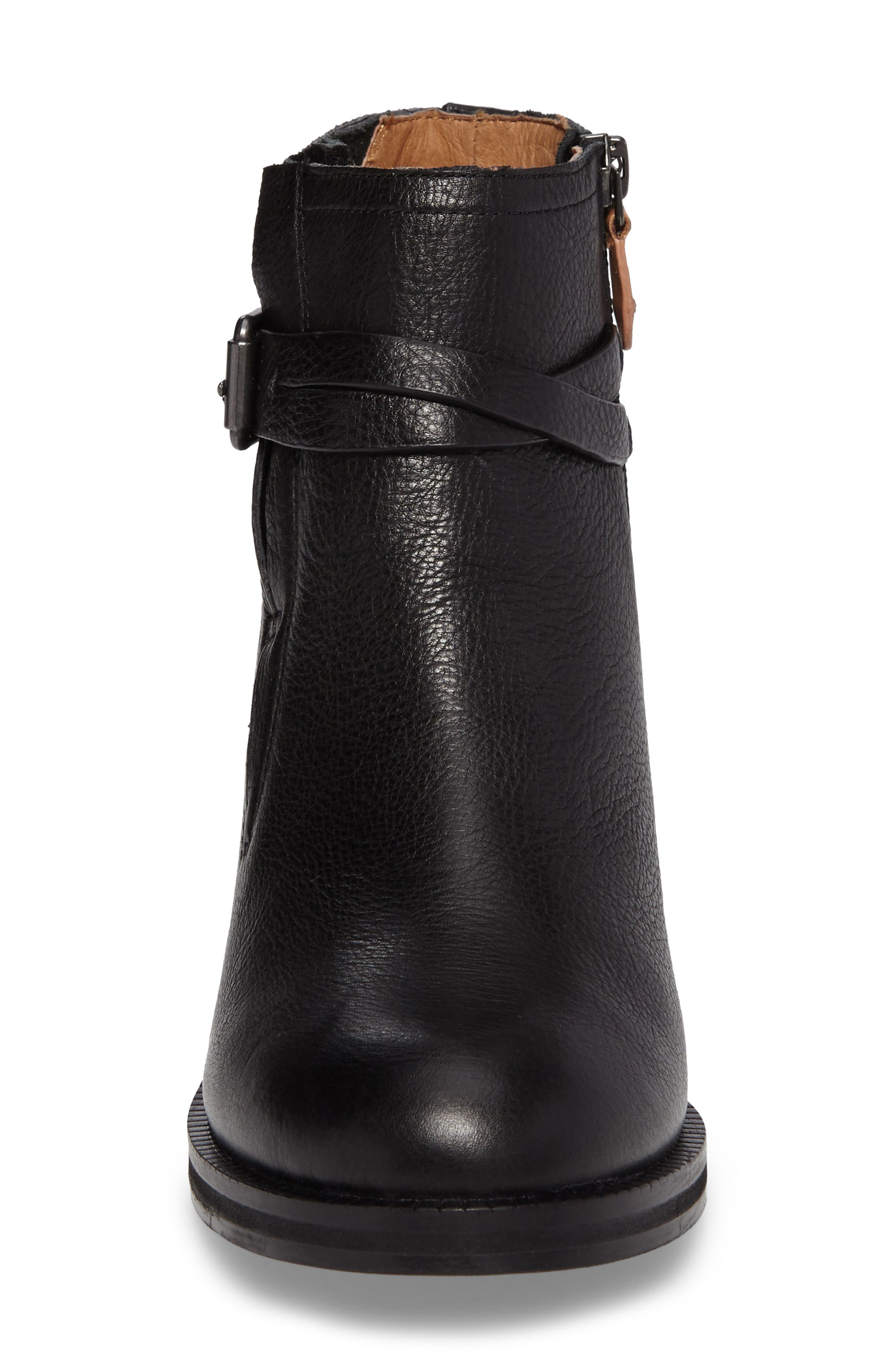 GENTLE SOULS BY KENNETH COLE, Percy Bootie, Alternate thumbnail 4, color, BLACK LEATHER